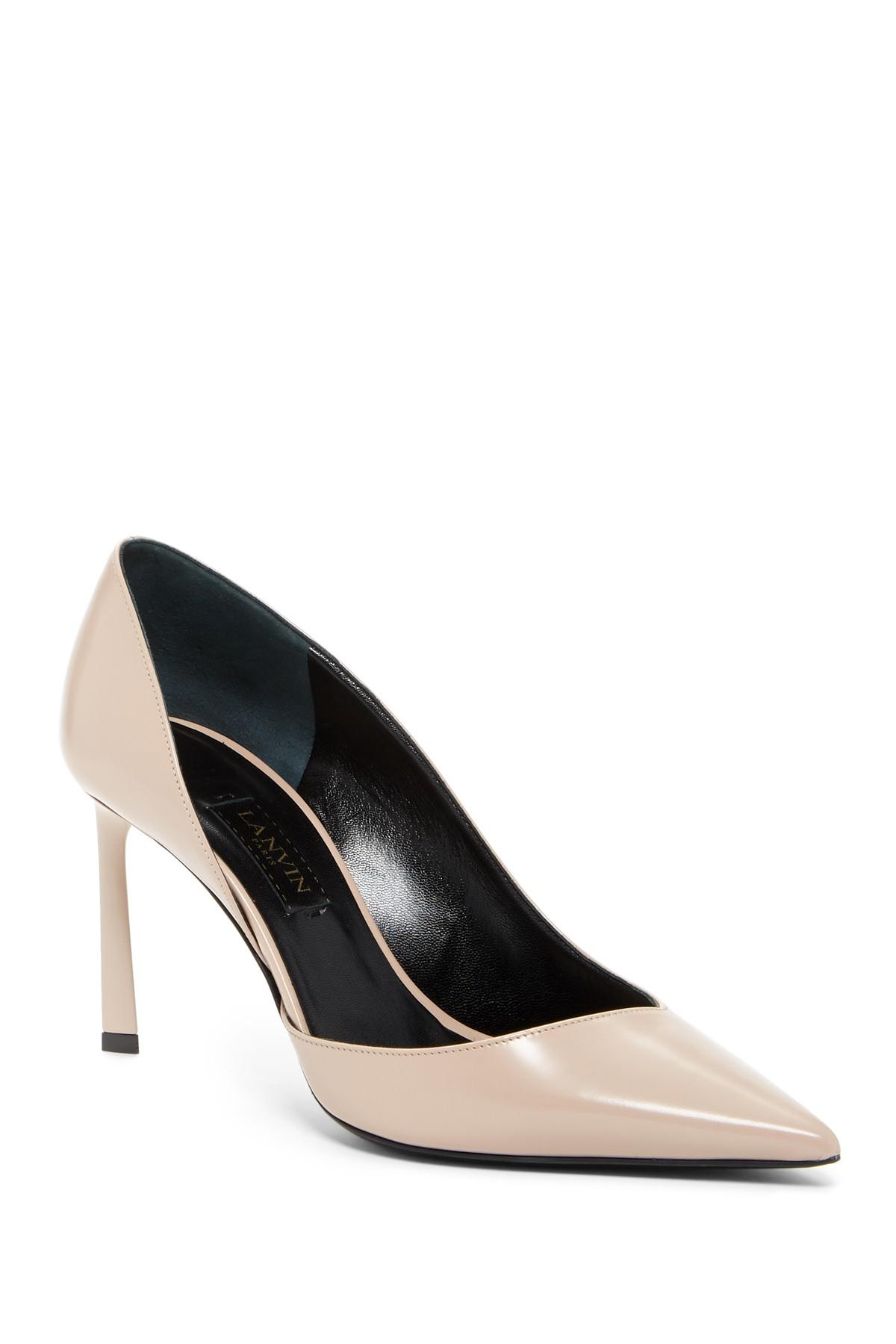 order sale online free shipping 2014 Lanvin Pointed-Toe Leather Pumps with paypal extremely cheap online AM4wXx