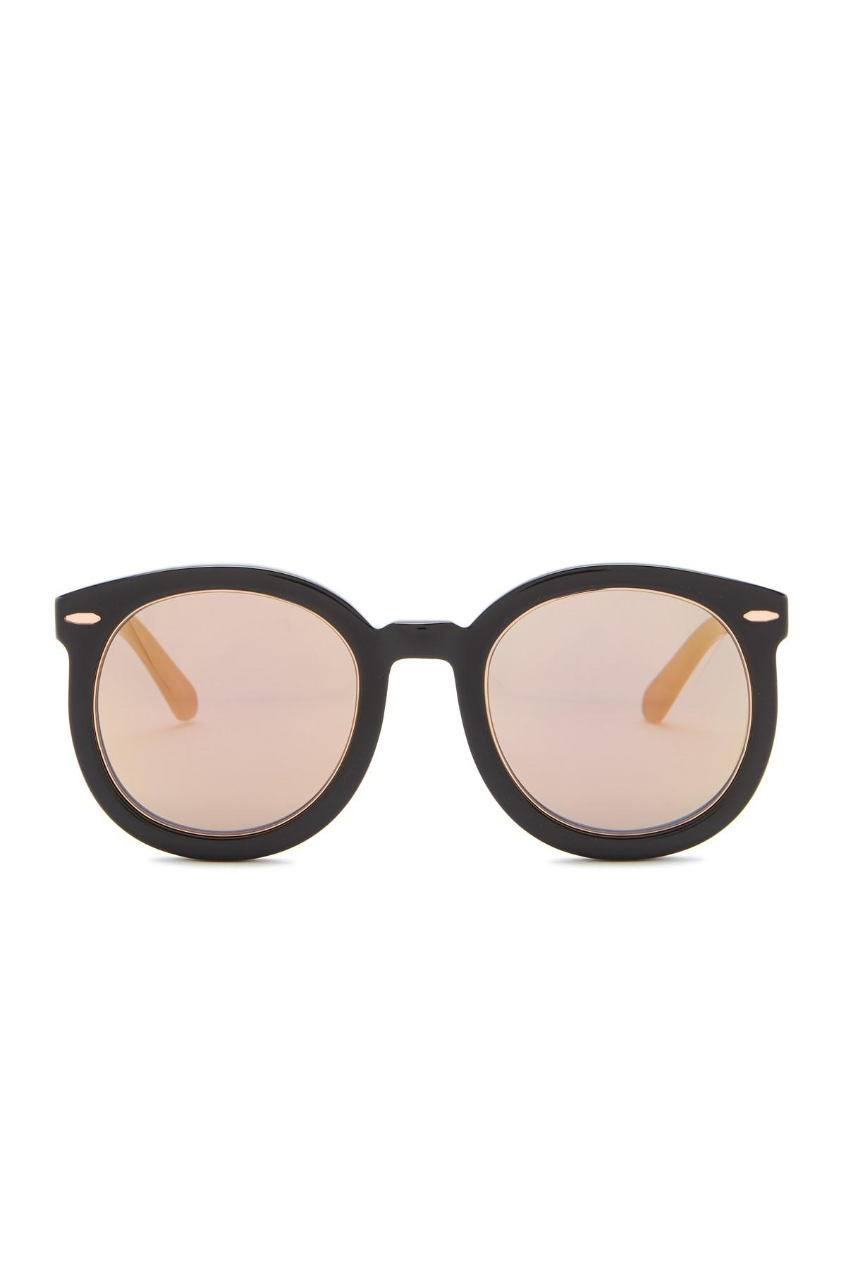 f173c35918e Lyst - Karen Walker Super Duper Superstars 50mm Round Sunglasses