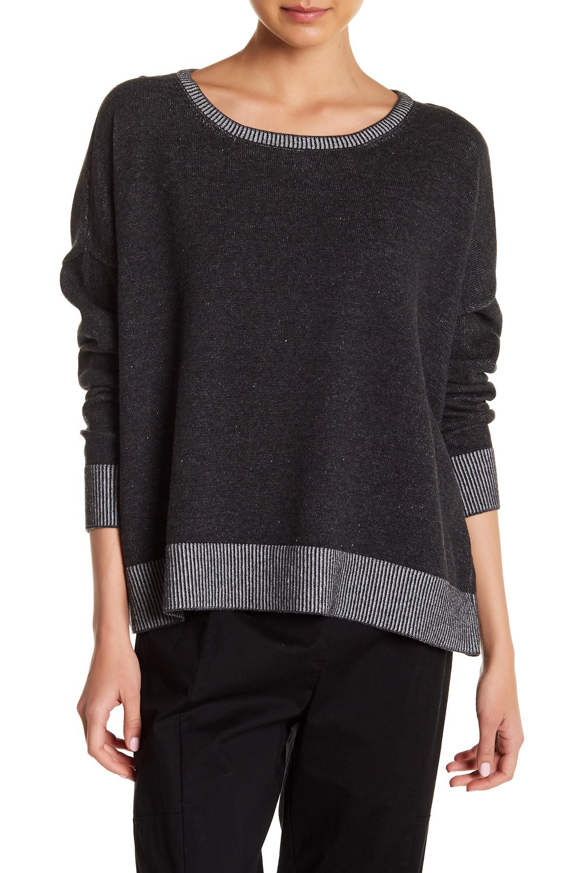 nordstrom merino products boxy wool pin ribbed cardigan eileen fisher rack