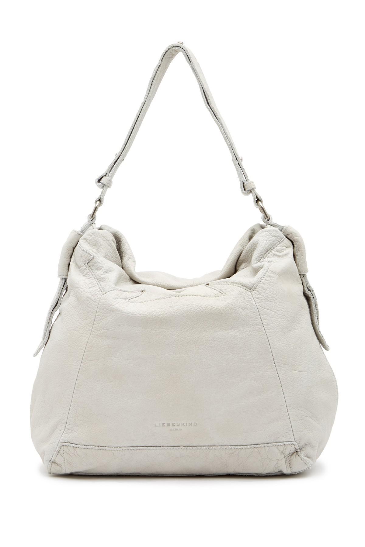 Lyst - Liebeskind Berlin Medea Double-dye Leather Hobo Bag in Gray 81e16a8bae201
