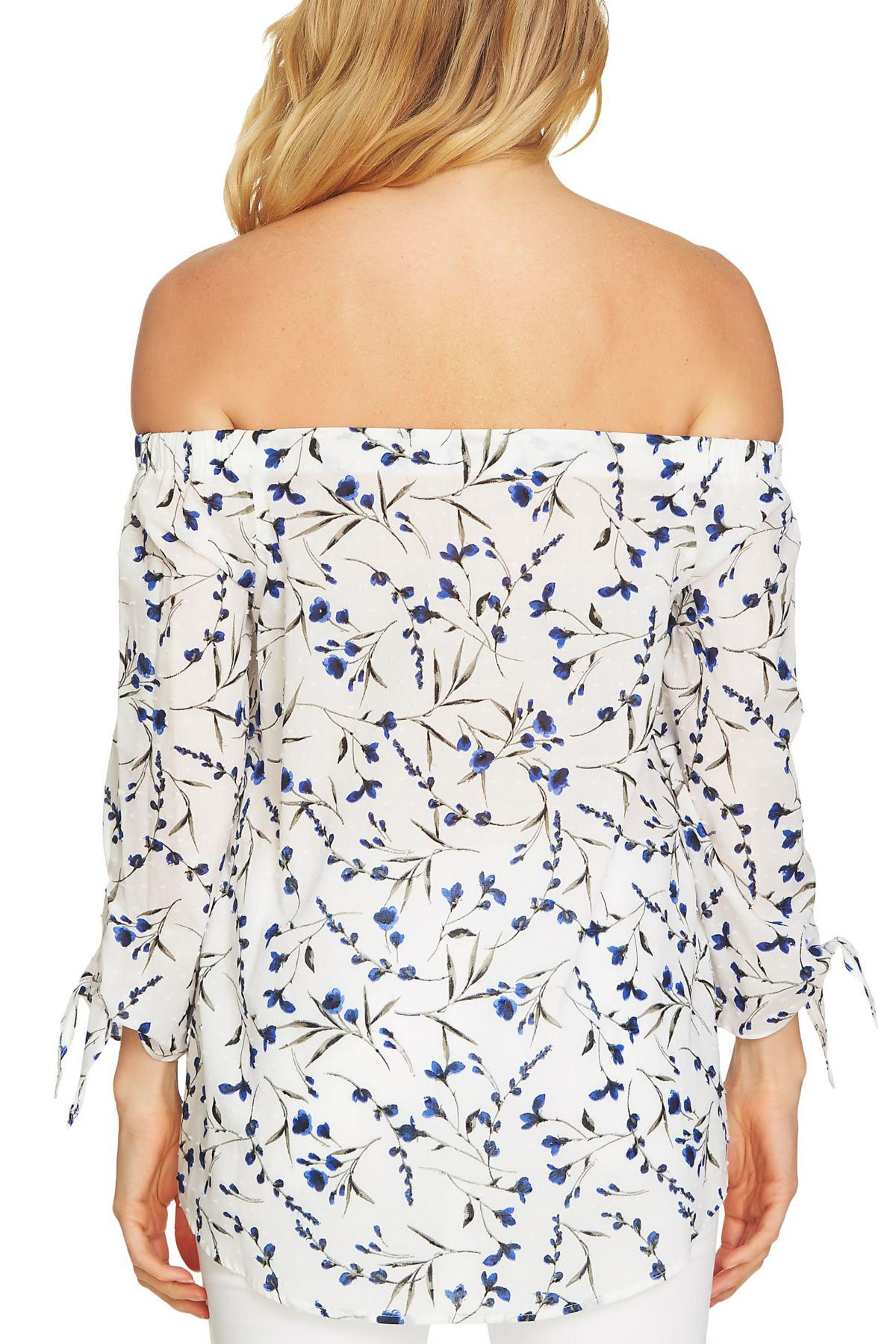 14f6551591b Lyst - Cece By Cynthia Steffe Graceful Floral Off The Shoulder Top ...