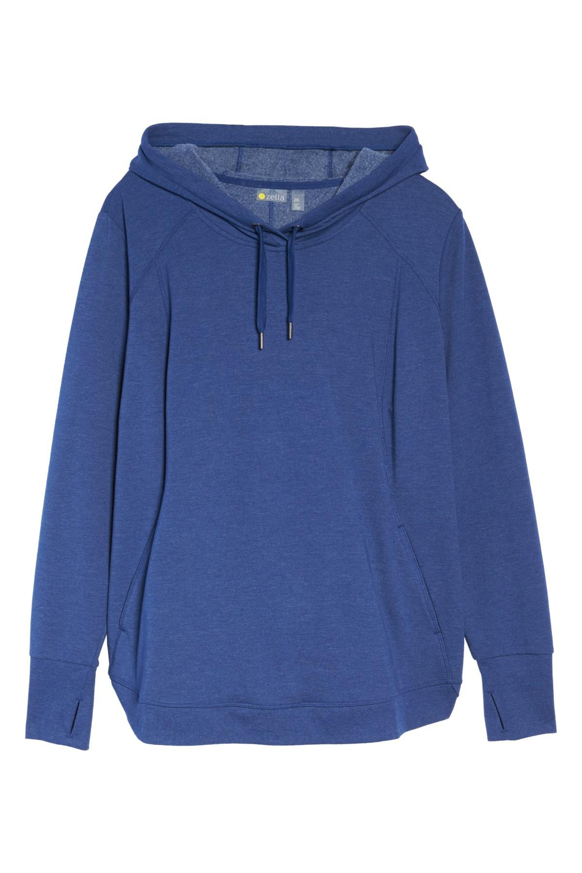 200ae97dc16 Lyst - Zella En Route Pullover Hoodie (plus Size) in Blue