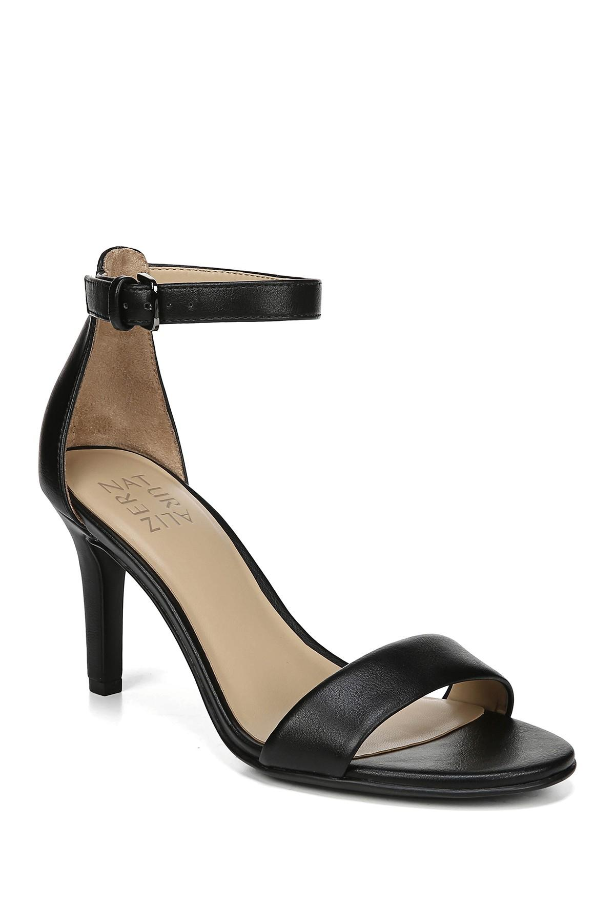 8fc69c8613f9 Naturalizer - Black Leah Ankle Strap Sandal - Wide Width Available - Lyst.  View fullscreen