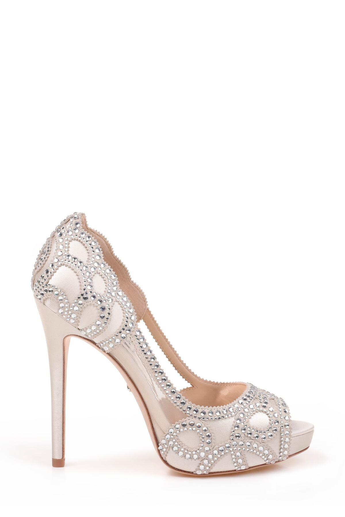 e5cb8c18e38 ... Multicolor Witney Embellished Peep Toe Pump - Lyst. View fullscreen