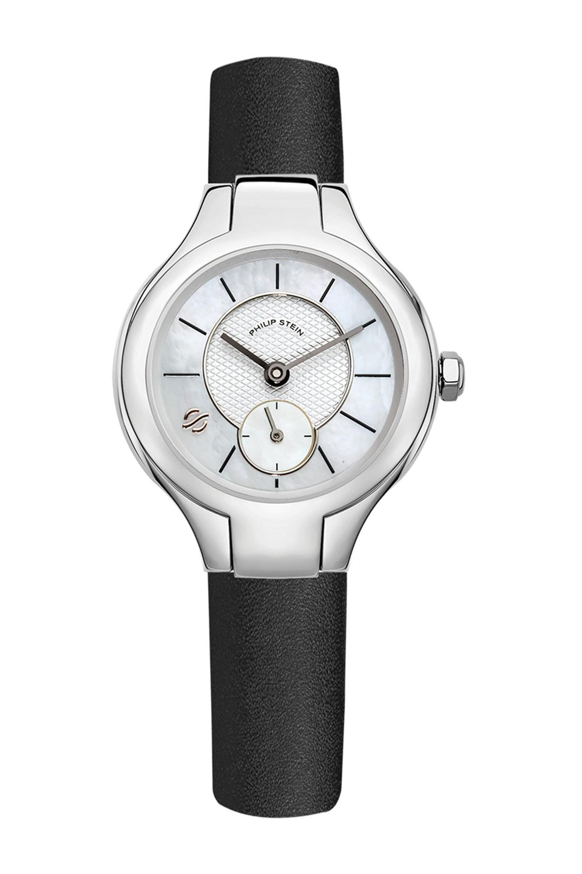 Philip stein women 39 s stainless steel quartz watch in black lyst for Philip stein watches