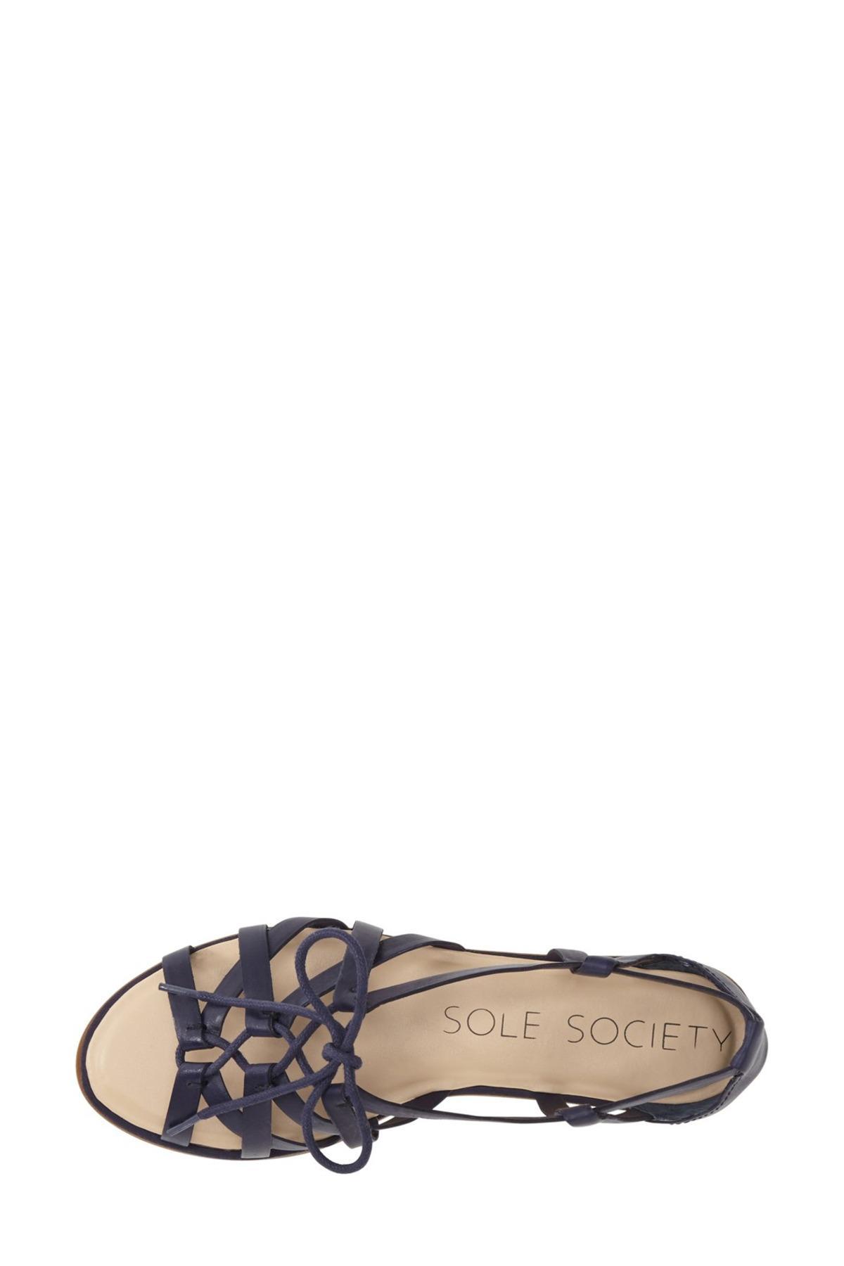 bcd98afb4322 Lyst - Sole Society  gillian  Gladiator Sandal (women) in Blue