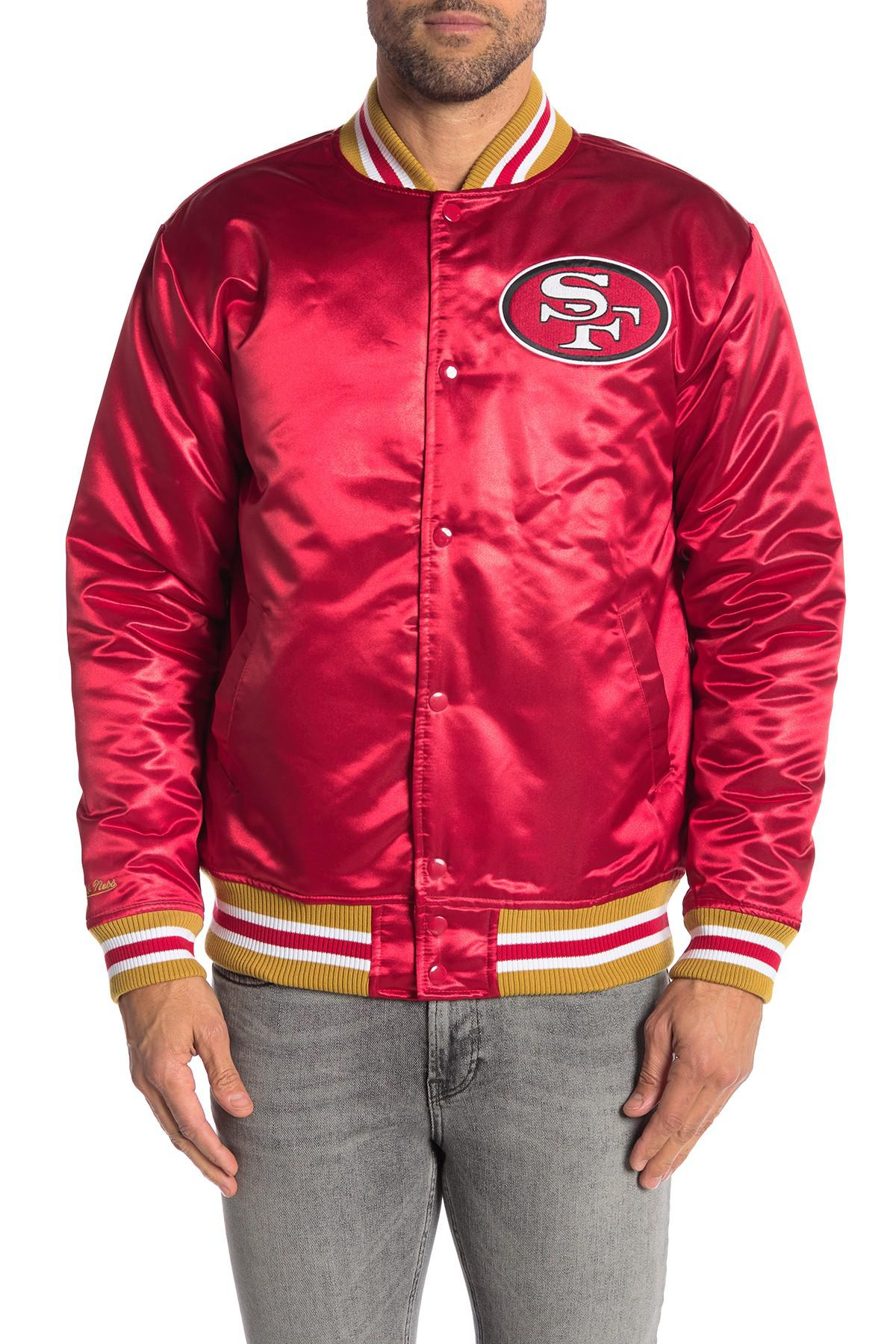 ab9b5e3bdf0 Mitchell   Ness Nfl San Francisco 49ers Satin Jacket in Black for ...