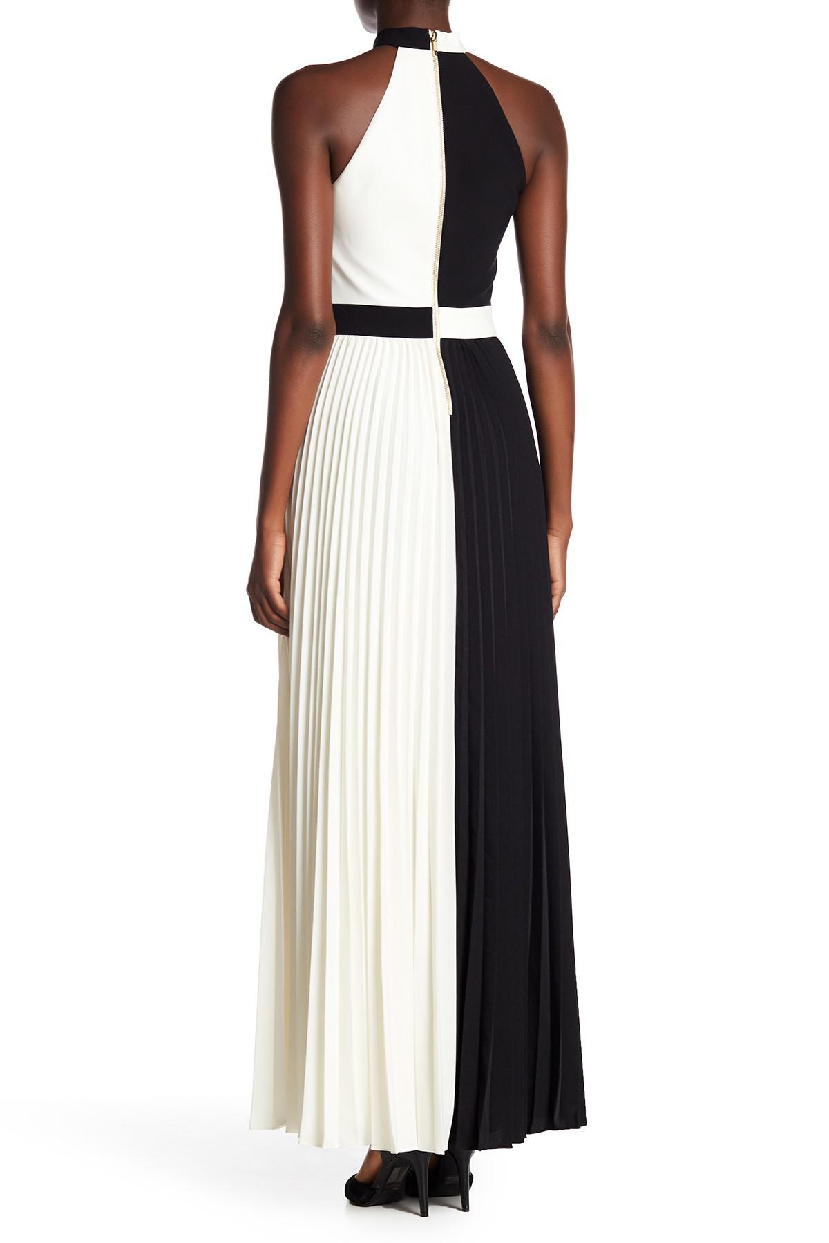 9ae73c092 Lyst - Ted Baker Lixia Colorblock Pleated Maxi Dress in Black