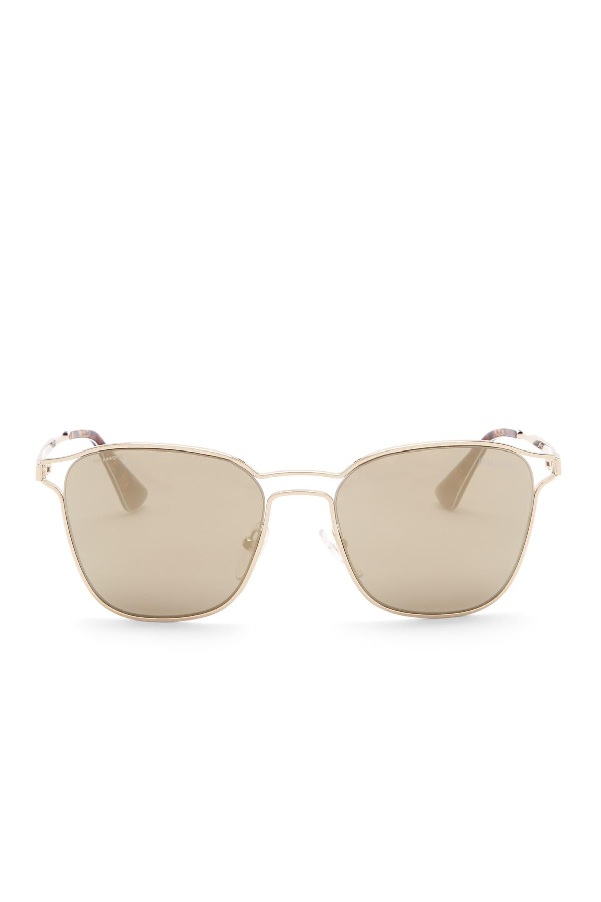 b2b55bcf41b0 ... coupon code prada metallic 55mm square sunglasses lyst. view fullscreen  d9835 6f919