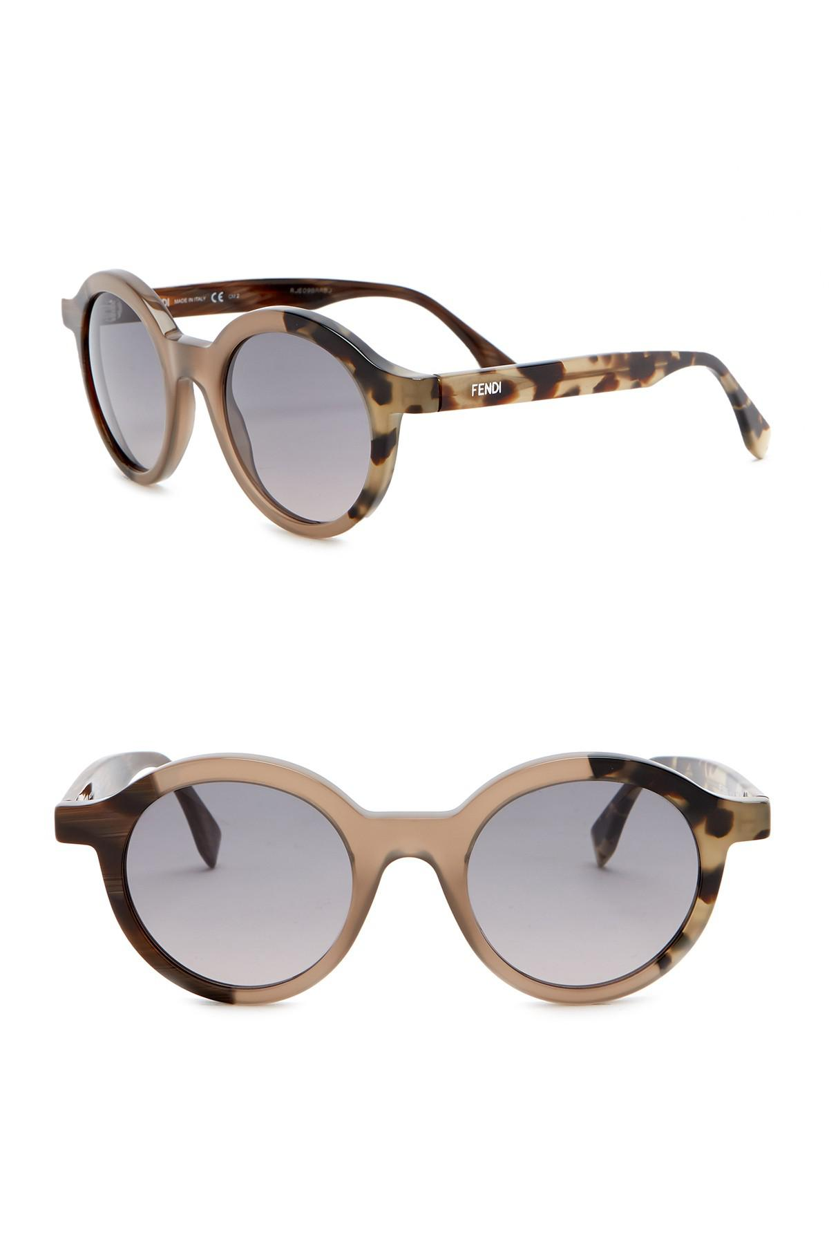 b4a110e5e5ec Lyst - Fendi Women s 48mm Round Sunglasses