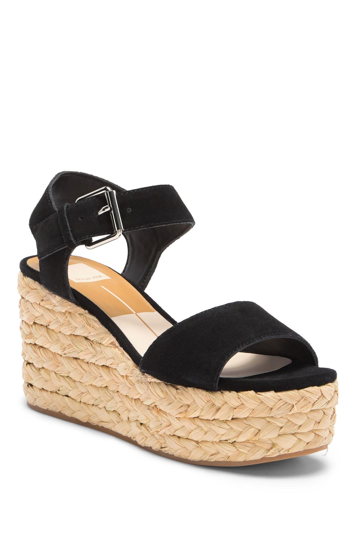 1e2967c3868 Dolce Vita Sacha Espadrille Platform Wedge Sandal in Black - Lyst