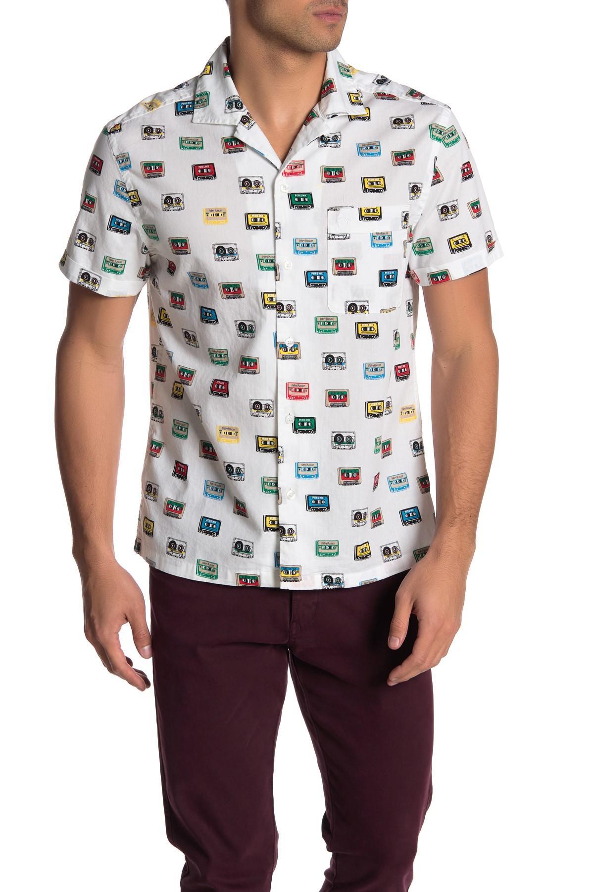 e12393853 Original Penguin Cassette Print Regular Fit Shirt in White for Men ...