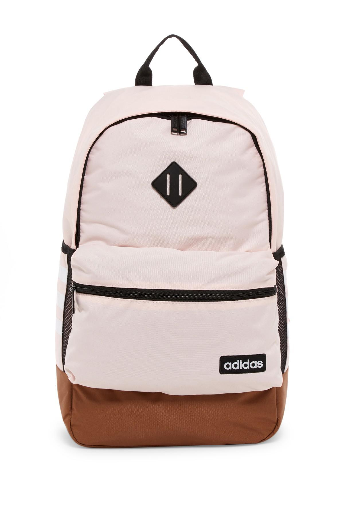 Lyst - adidas Classic 3s Backpack in Pink b7cd1b6eb245d