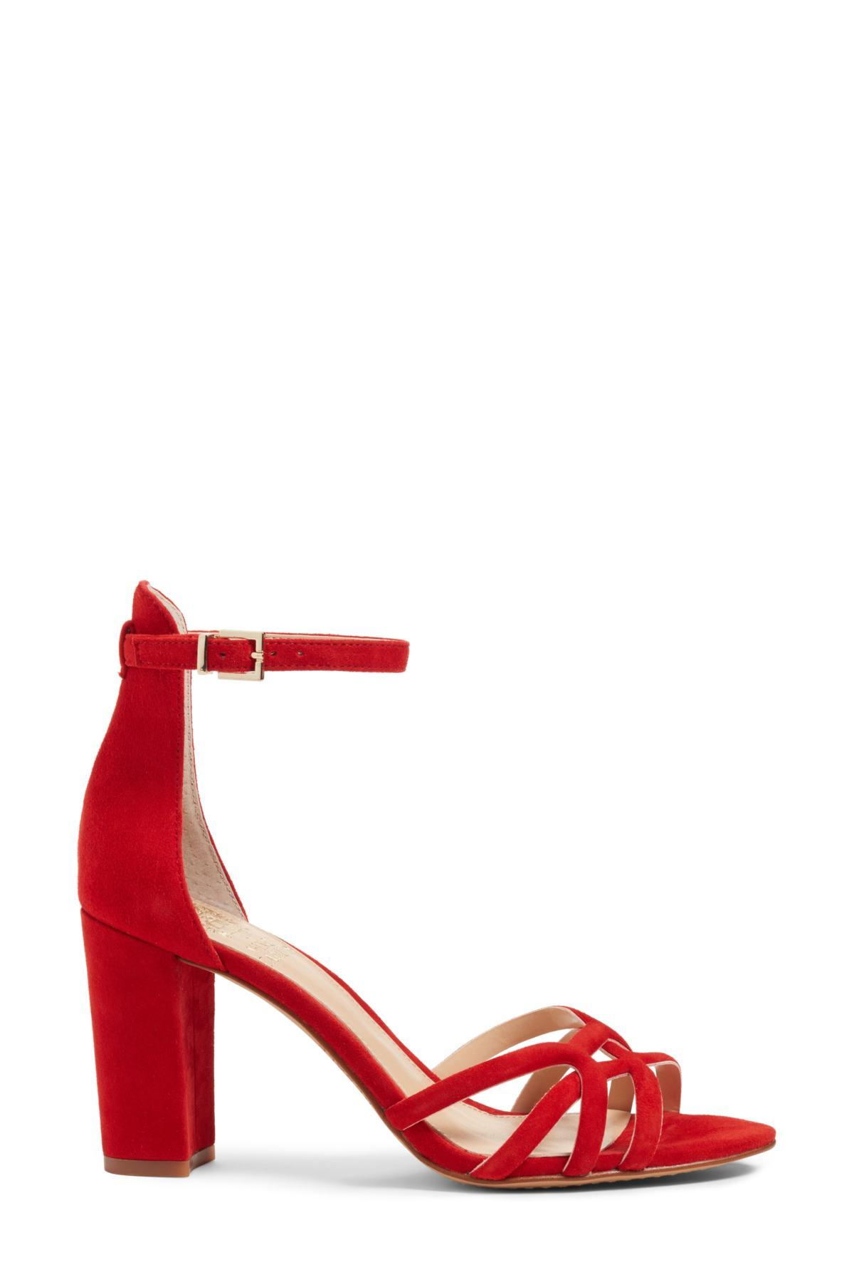 658c02c893be Vince Camuto - Red Catelia Ankle Strap Sandal (women) - Lyst. View  fullscreen