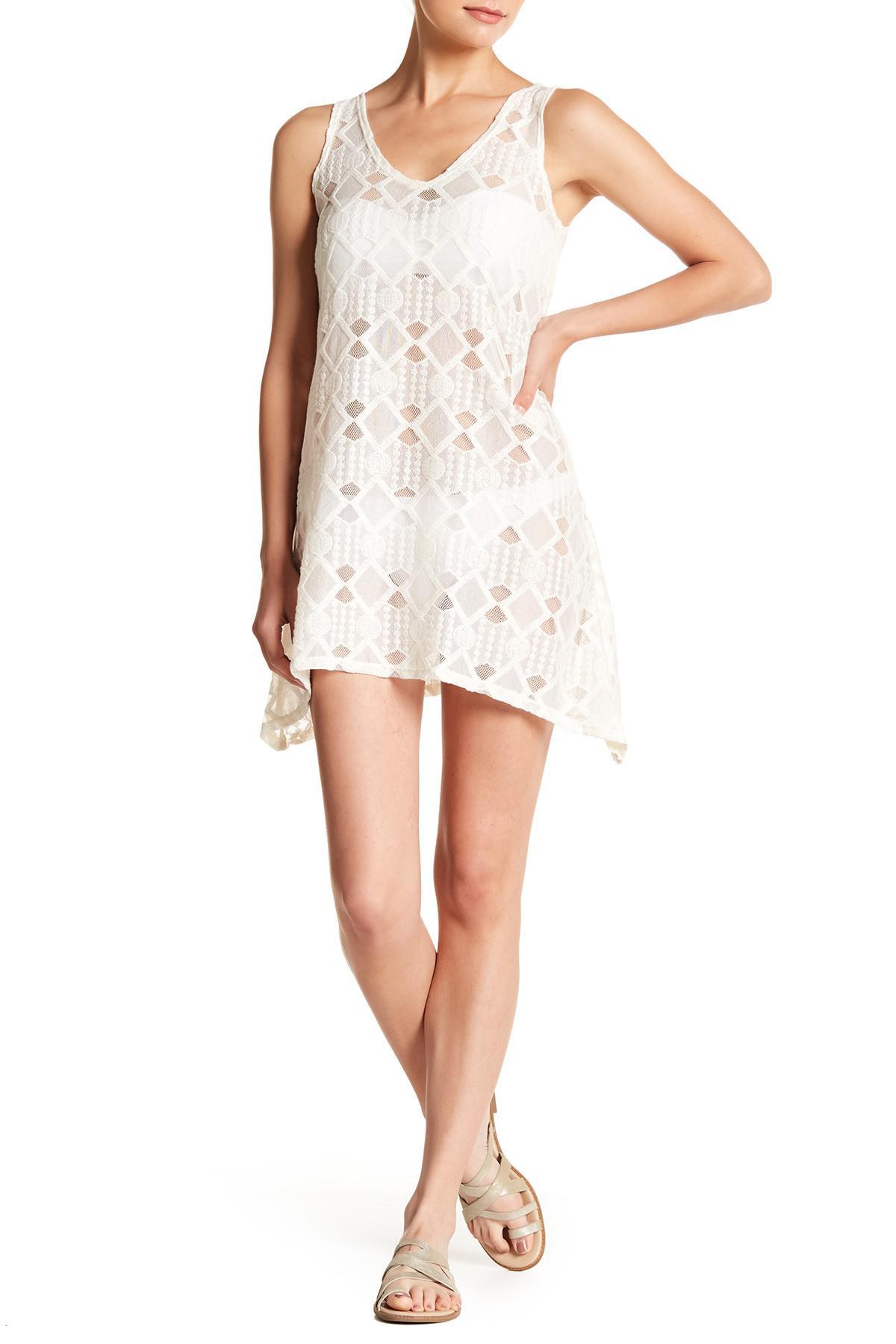 e4501853eb Lyst - J Valdi Tie Back Sharkbite Dress in White