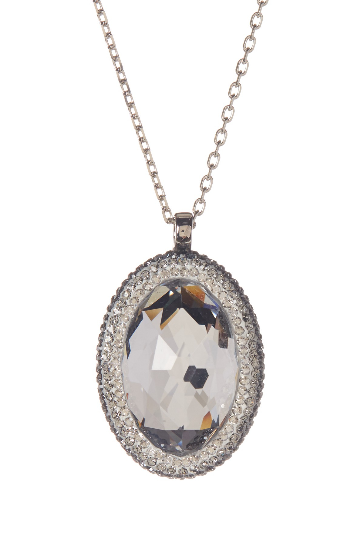 Lyst - Swarovski Vita Crystal Pendant Necklace in White