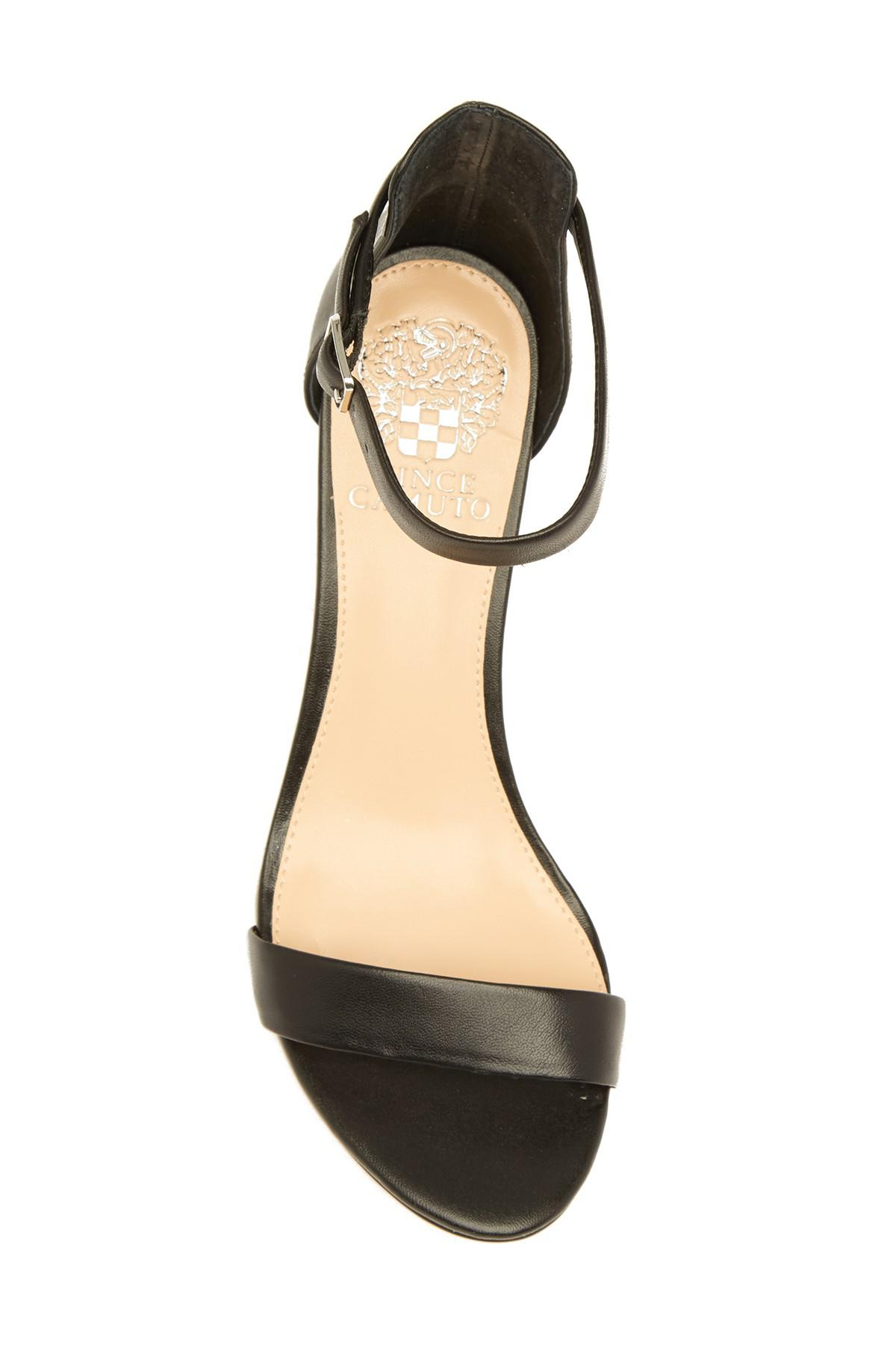 f6803533e00 Vince Camuto - Black Beah Block Heel Ankle Strap Sandal - Lyst. View  fullscreen