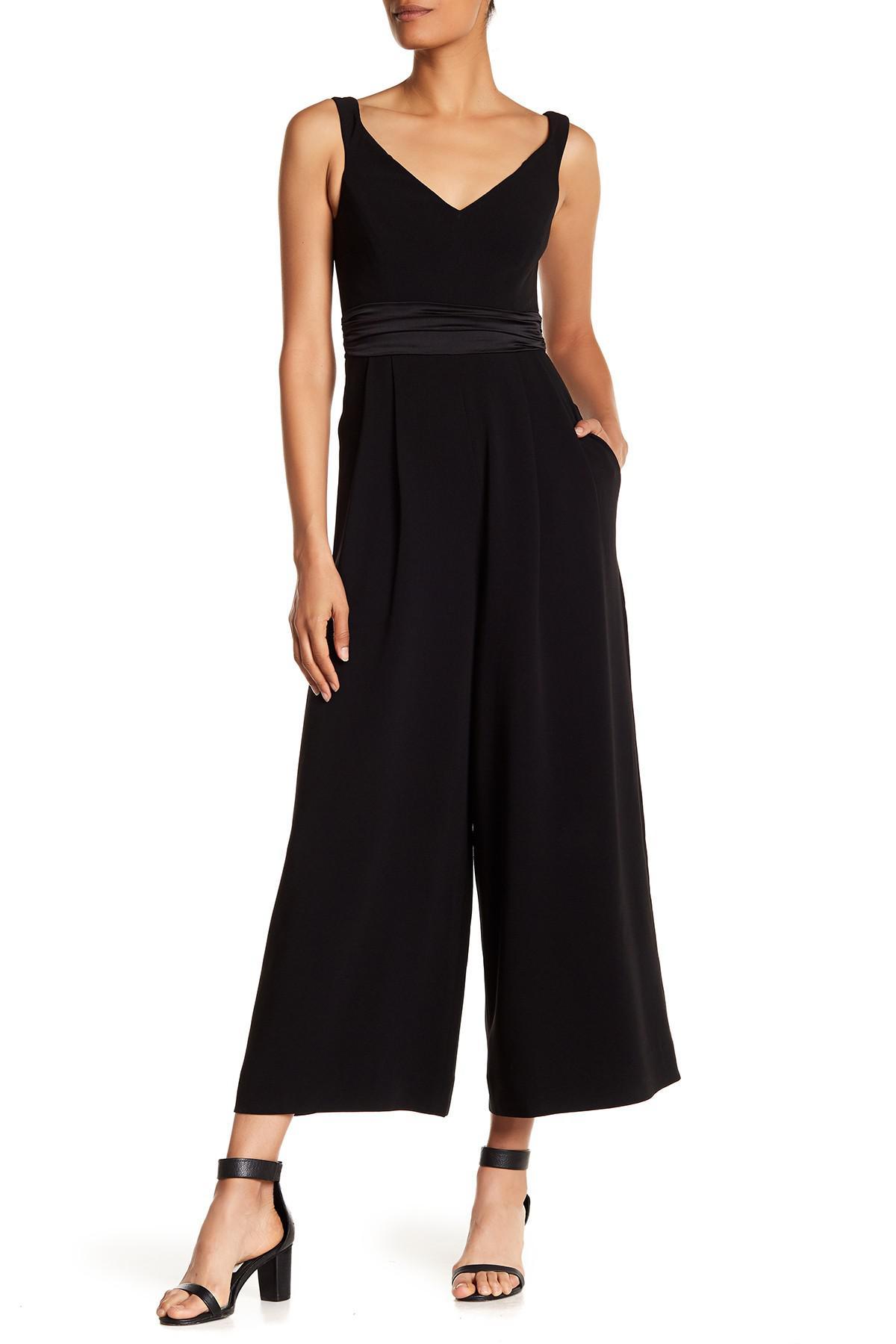 56798eb670a Lyst - Cinq À Sept Vina Sleeveless Culotte Jumpsuit in Black