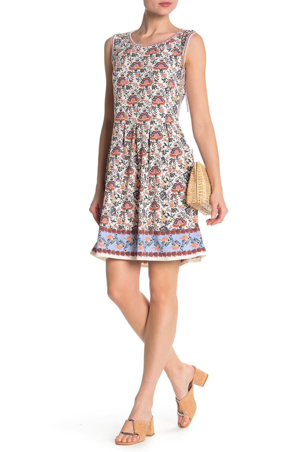 eb2b89319c Lyst - Max Studio Patterned Sleeveless Fit   Flare Dress in Pink