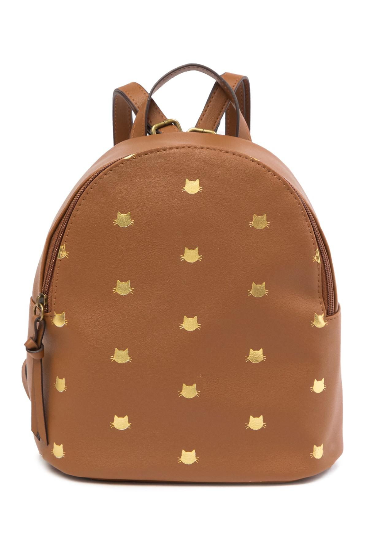 ff7e519e5f Lyst - T-Shirt   Jeans Metallic Cat Printed Backpack in Brown