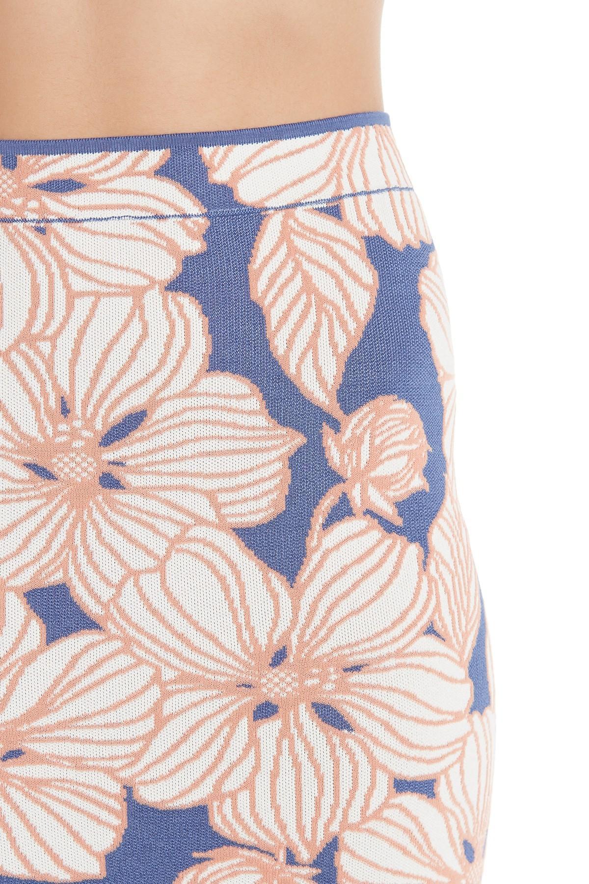cf52d7bddd BCBGMAXAZRIA - Multicolor Floral Jacquard Skirt - Lyst. View fullscreen