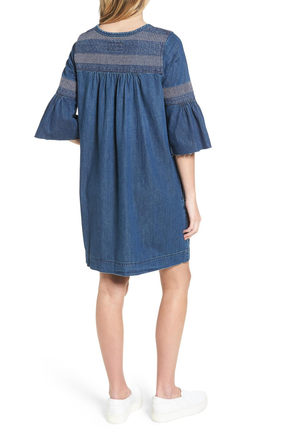 ddab825442 Lyst - Current Elliott The Abigail Embroidered Dress in Blue