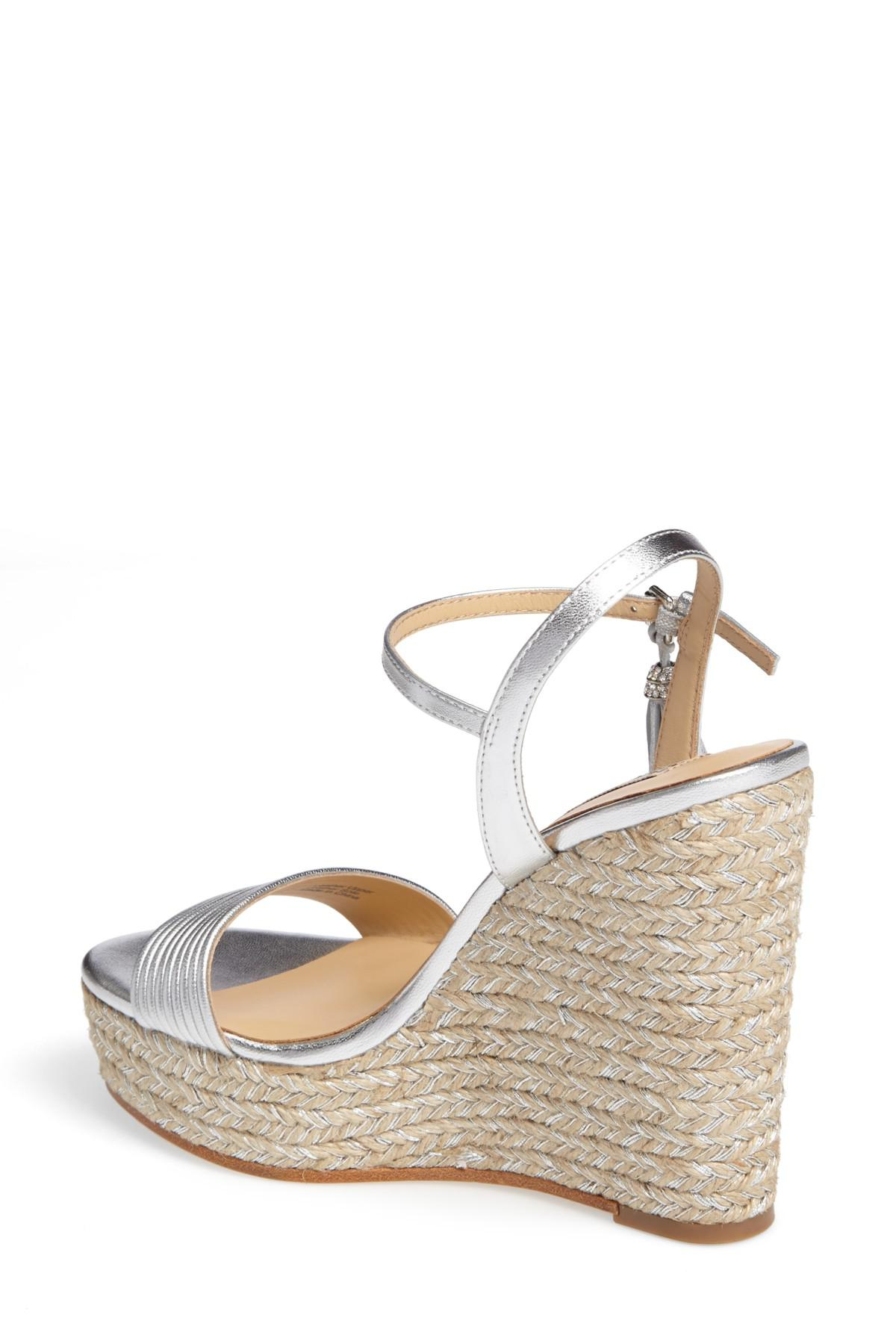 Badgley Mischka Trace Strappy Platform Wedge Sandal OCSO3d