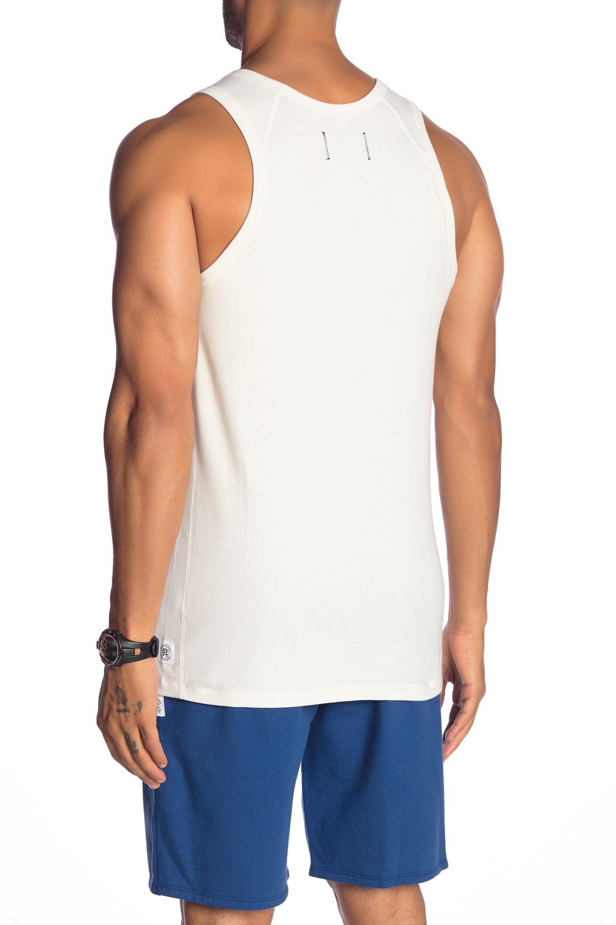cdf02bfc7 Lyst - Reigning Champ Mesh Jersey Tank in White for Men