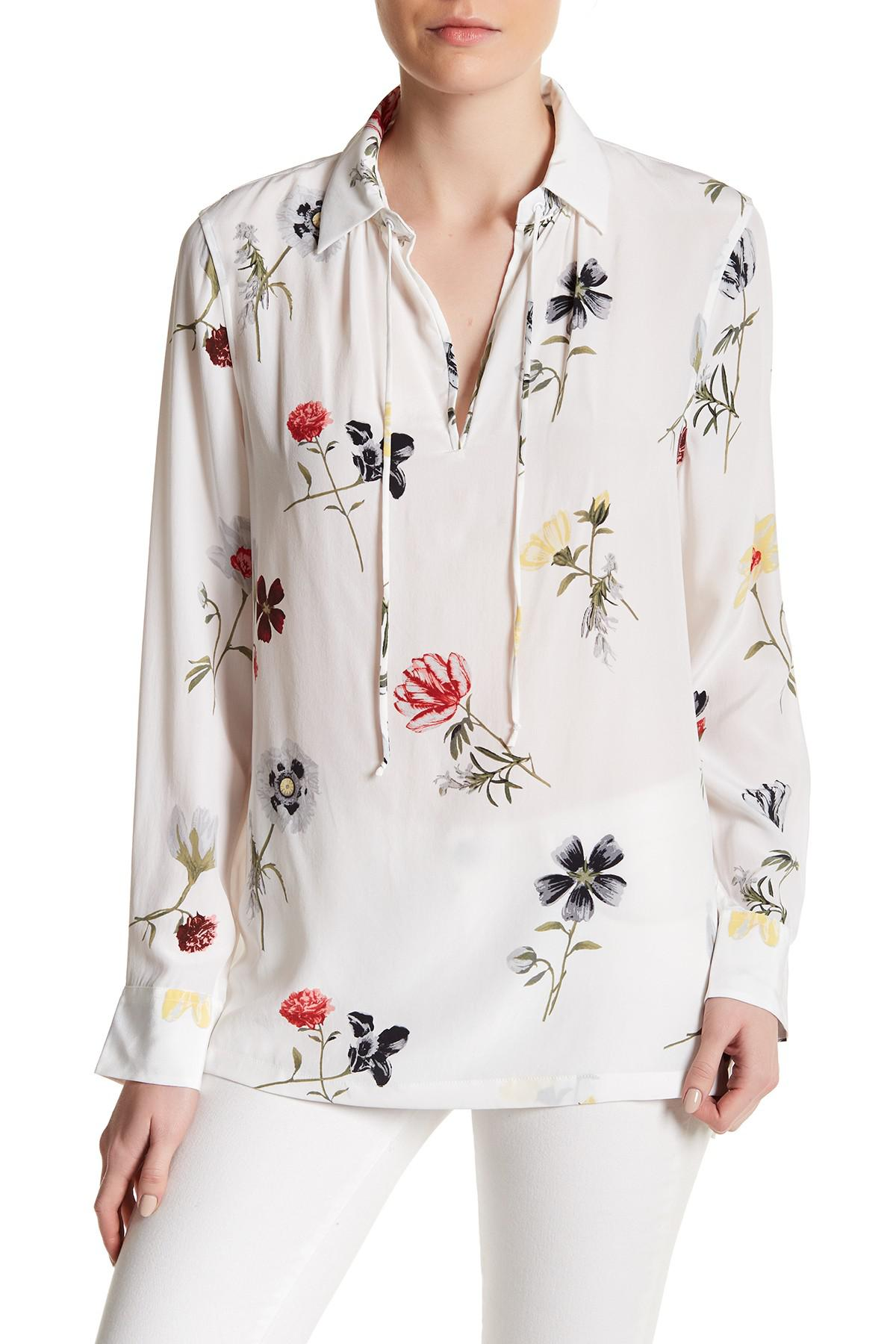 Sale Newest Best Cheap Price Equipment Woman Tasseled Washed-silk Blouse White Size S Equipment Prices Cheap Online Many Kinds Of For Sale Pre Order Cheap Online i1Obuw