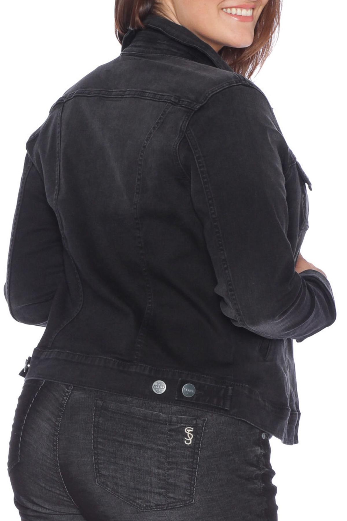 5fdf1c4739854 Slink Jeans - Black Denim Trucker Jacket (plus Size) - Lyst. View fullscreen