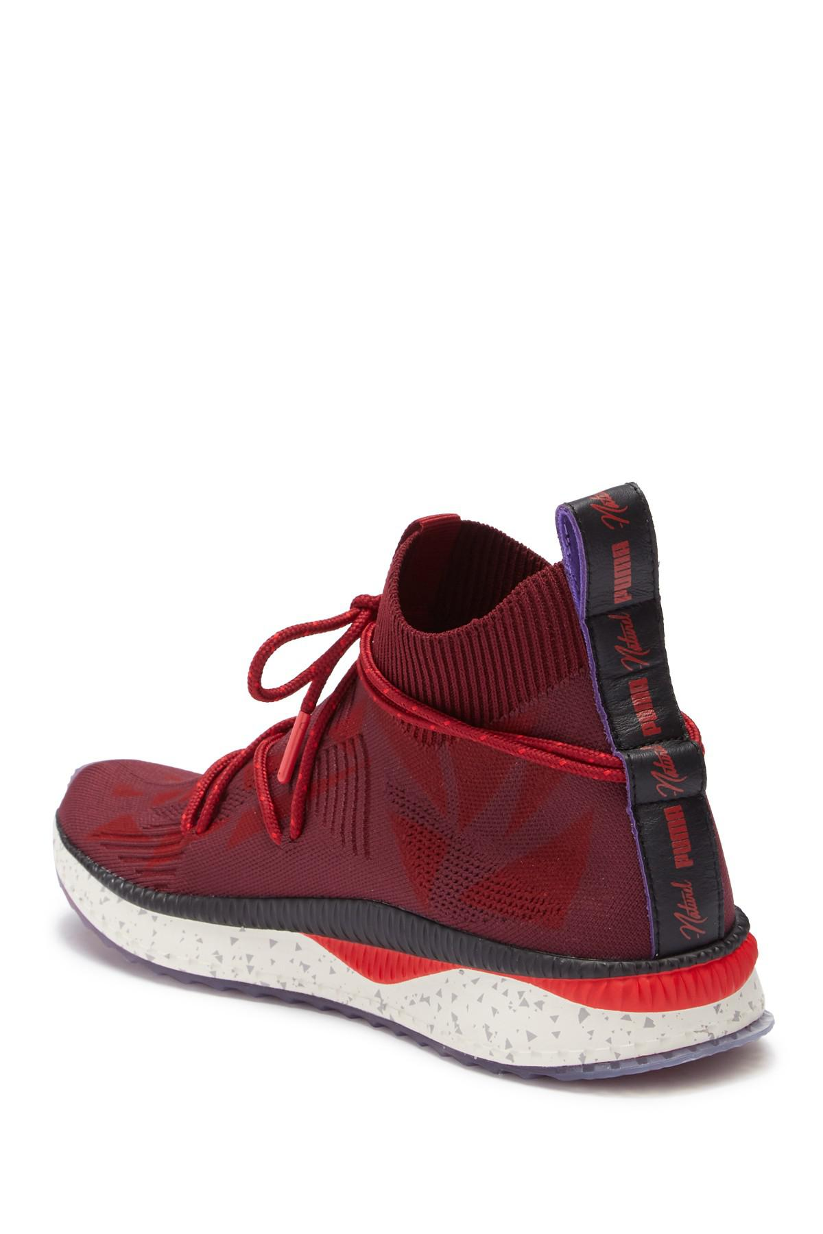 PUMA - Red X Naturel Tsugi Evoknit Sock Sneaker for Men - Lyst. View  fullscreen 6ff4e01ec
