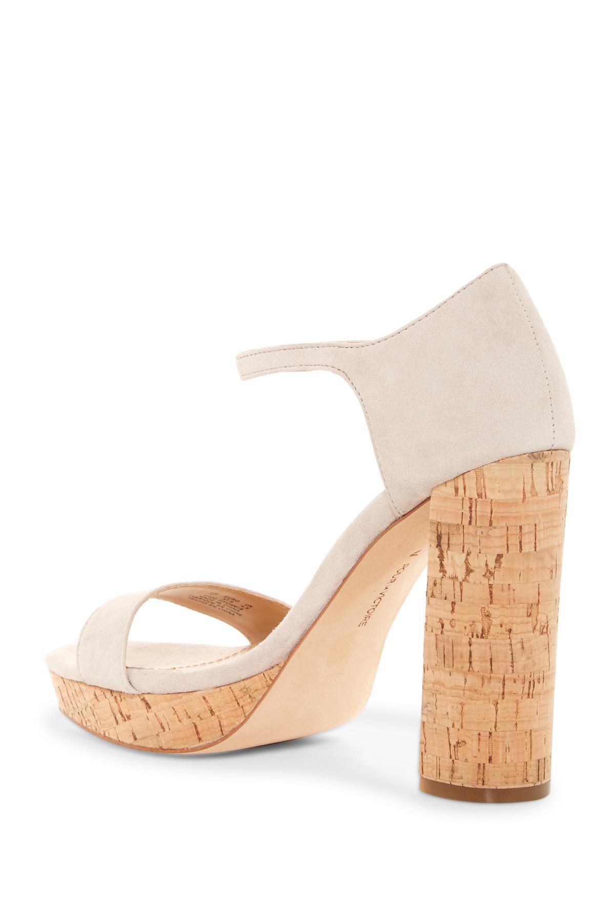 69e3fd1fc72328 Lyst - Pour La Victoire Yvette Platform Ankle Strap Sandal in Natural
