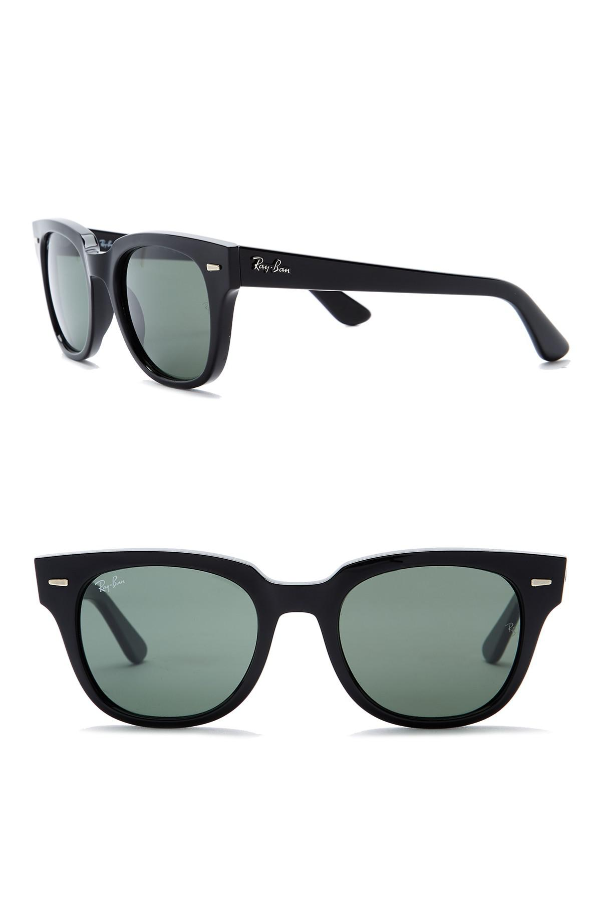 354019995f Lyst - Ray-Ban Square 50mm Meteor Sunglasses in Black for Men
