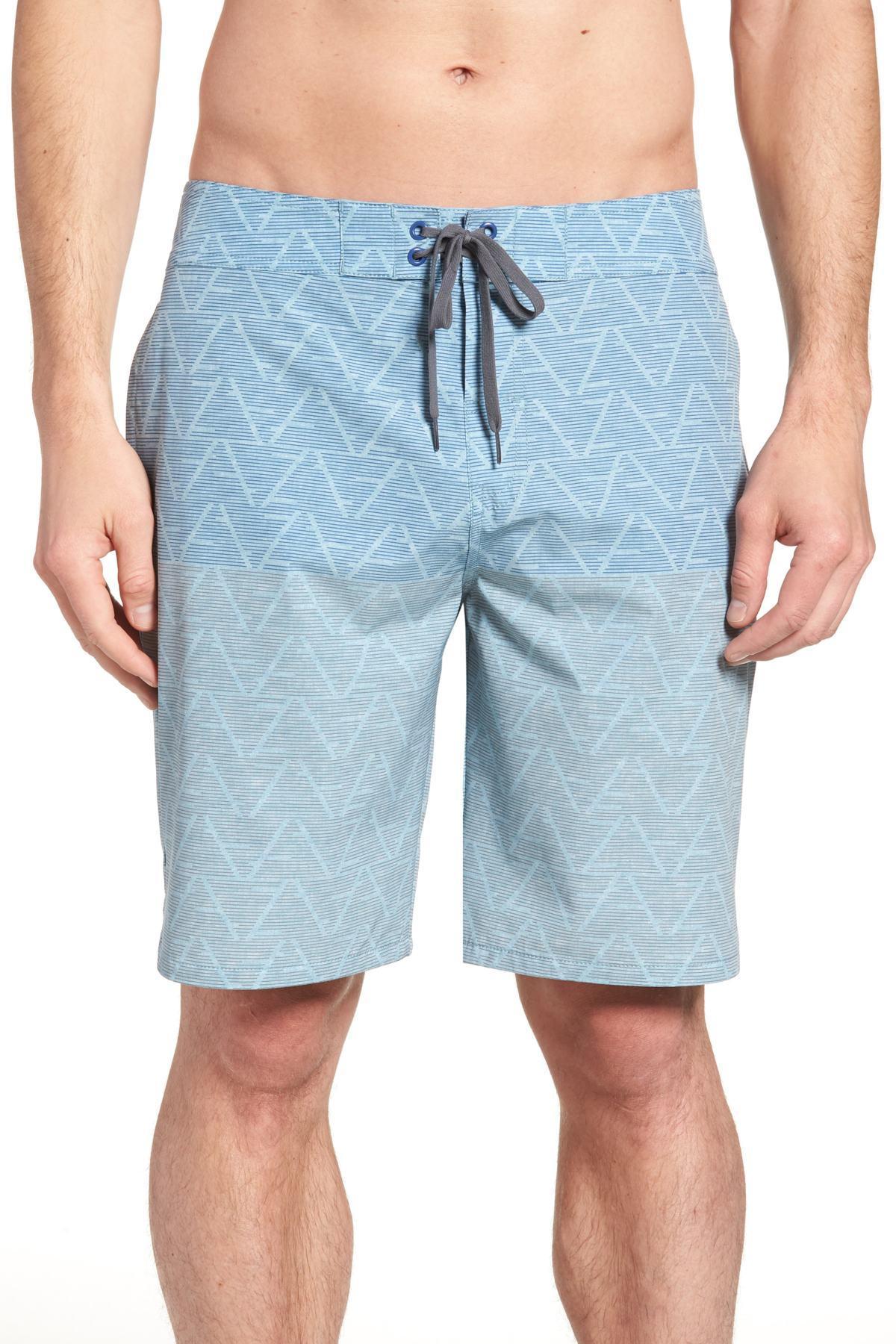 8845d508e4 Travis Mathew Teepees Swim Trunks in Blue for Men - Lyst