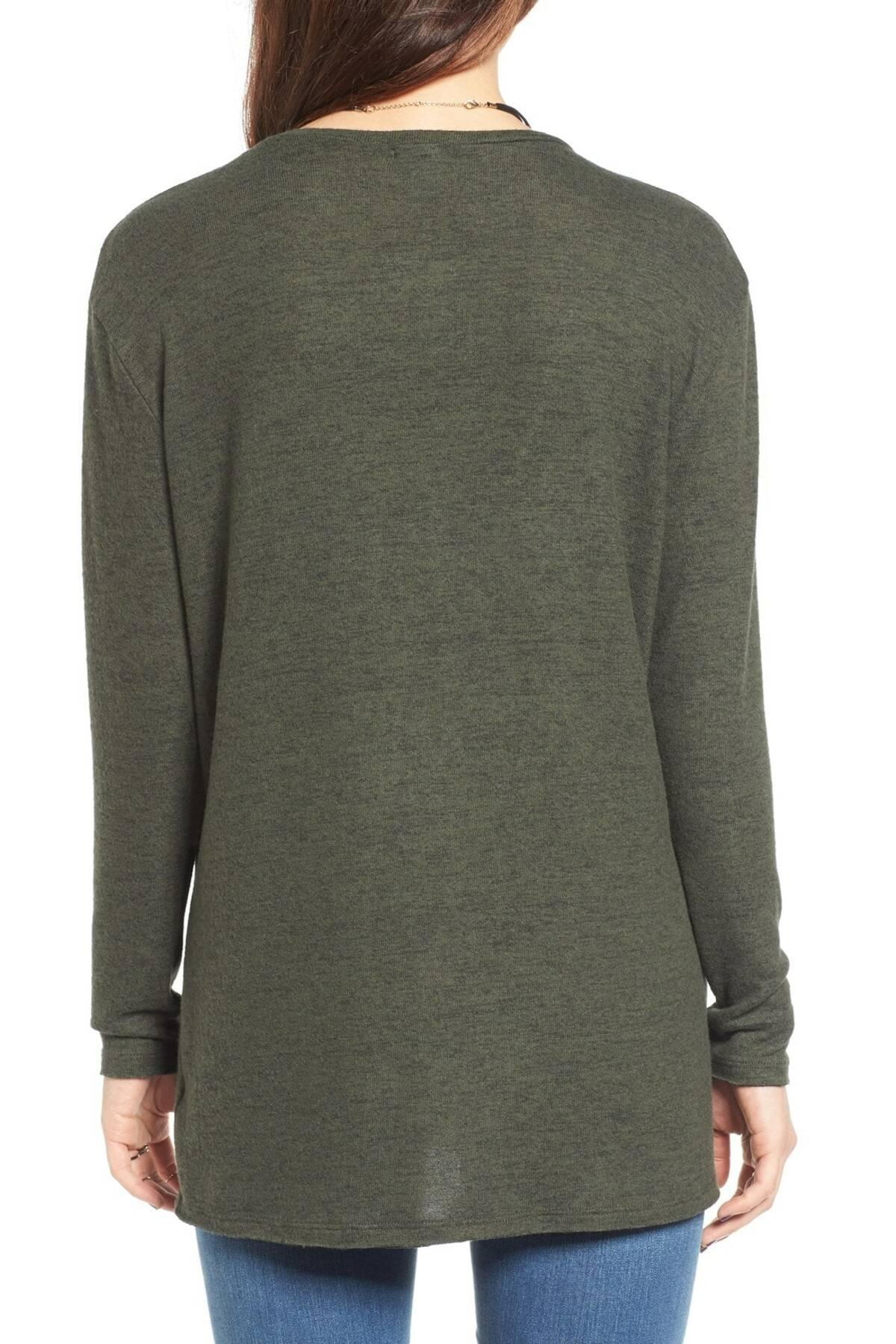 737e98a61 Lyst - BP. Cozy V-neck Sweater (regular   Plus Size) in Green