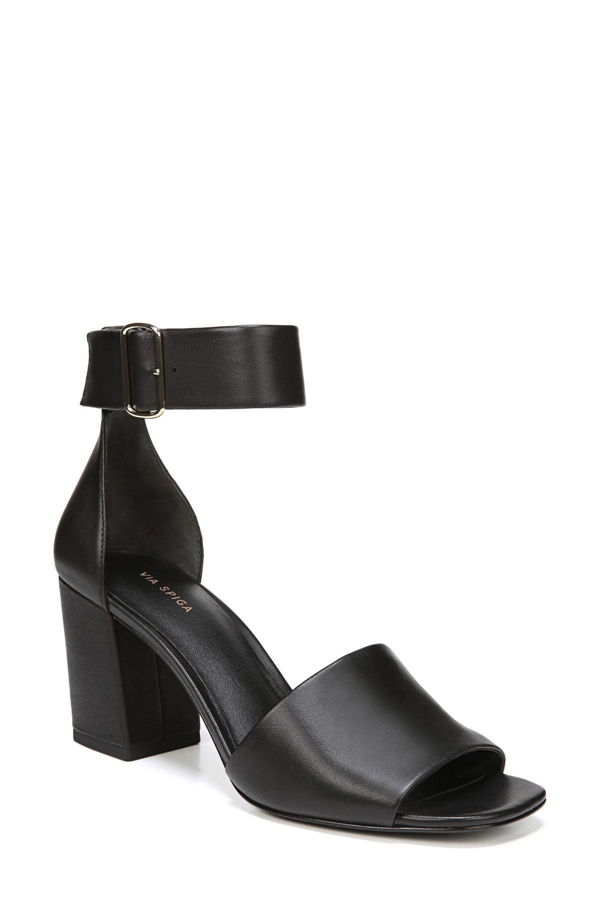 997898002bc Via Spiga - Black Evonne Ankle Strap Sandal - Lyst. View fullscreen