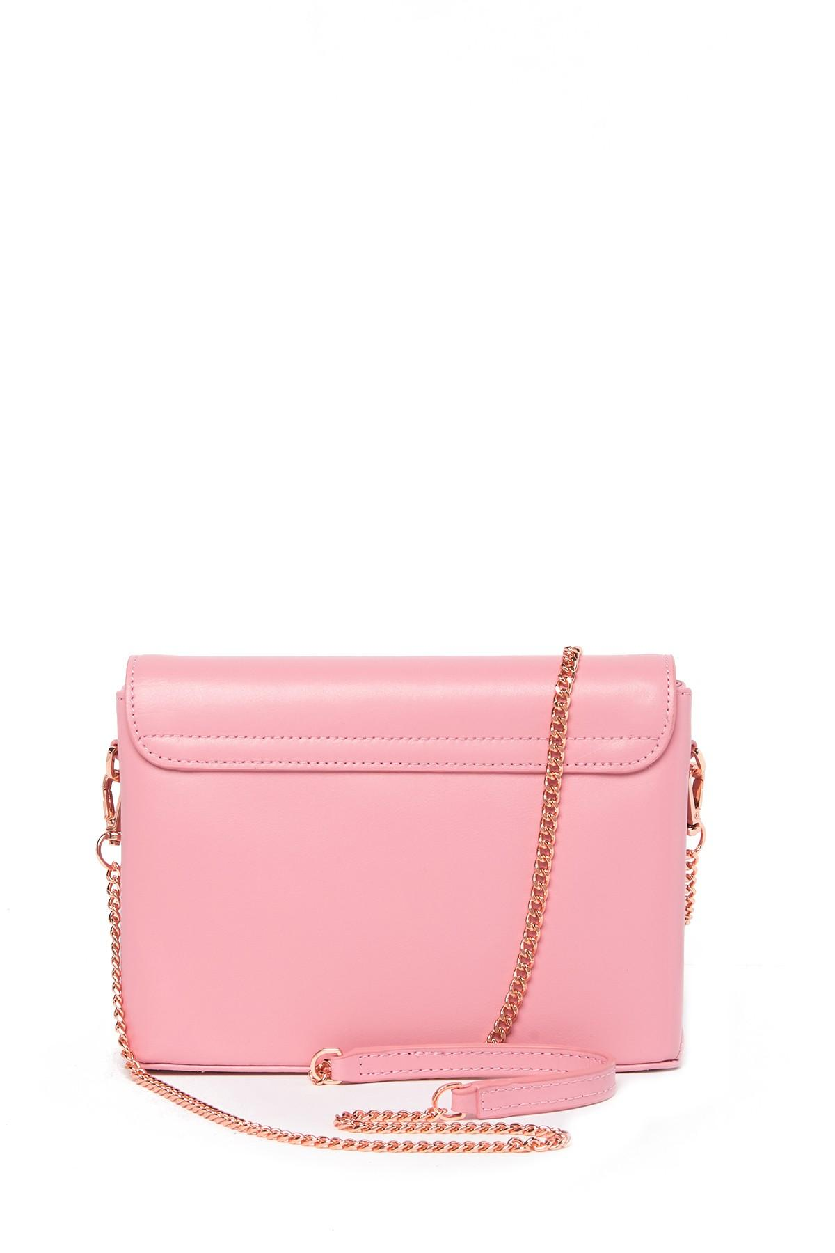 116d3de23 Lyst - Ted Baker Moniica Crystal Bar Leather Crossbody Bag in Pink