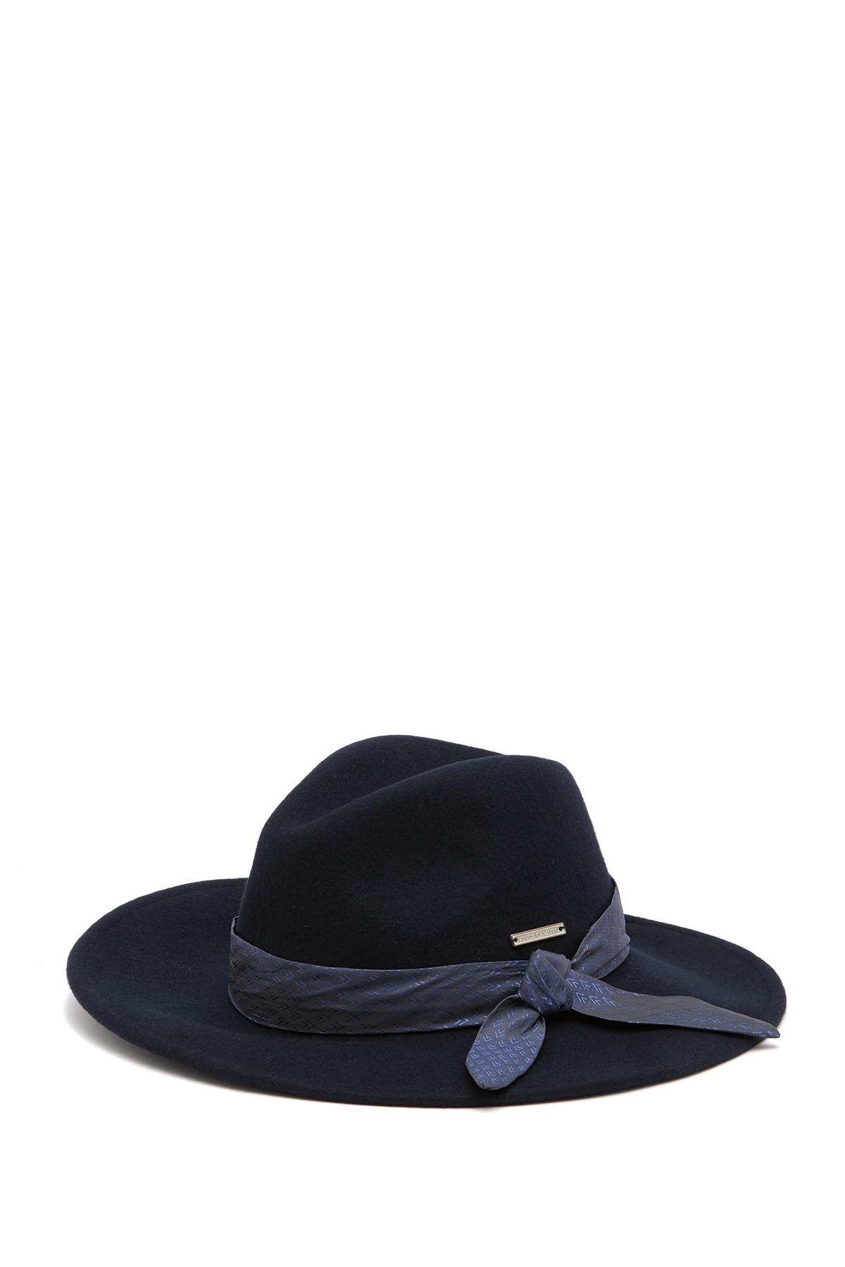 f3e4c83a424 Lyst - Vince Camuto Wool Tie Panama Hat in Blue