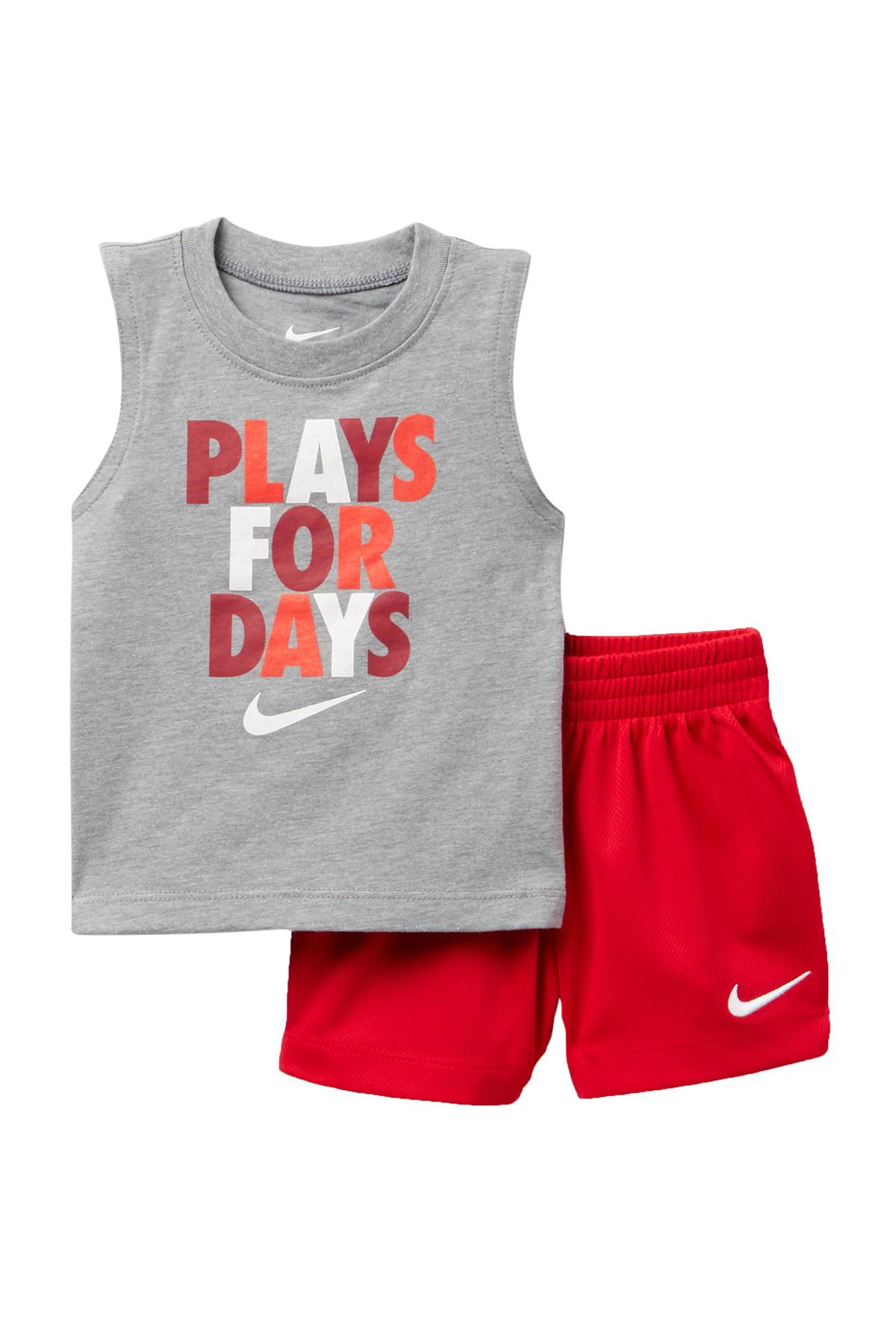 e710cc4446f51 Nike Plays 4 Days Muscle Tee & Shorts Set - 2 Piece (baby Boys) in ...