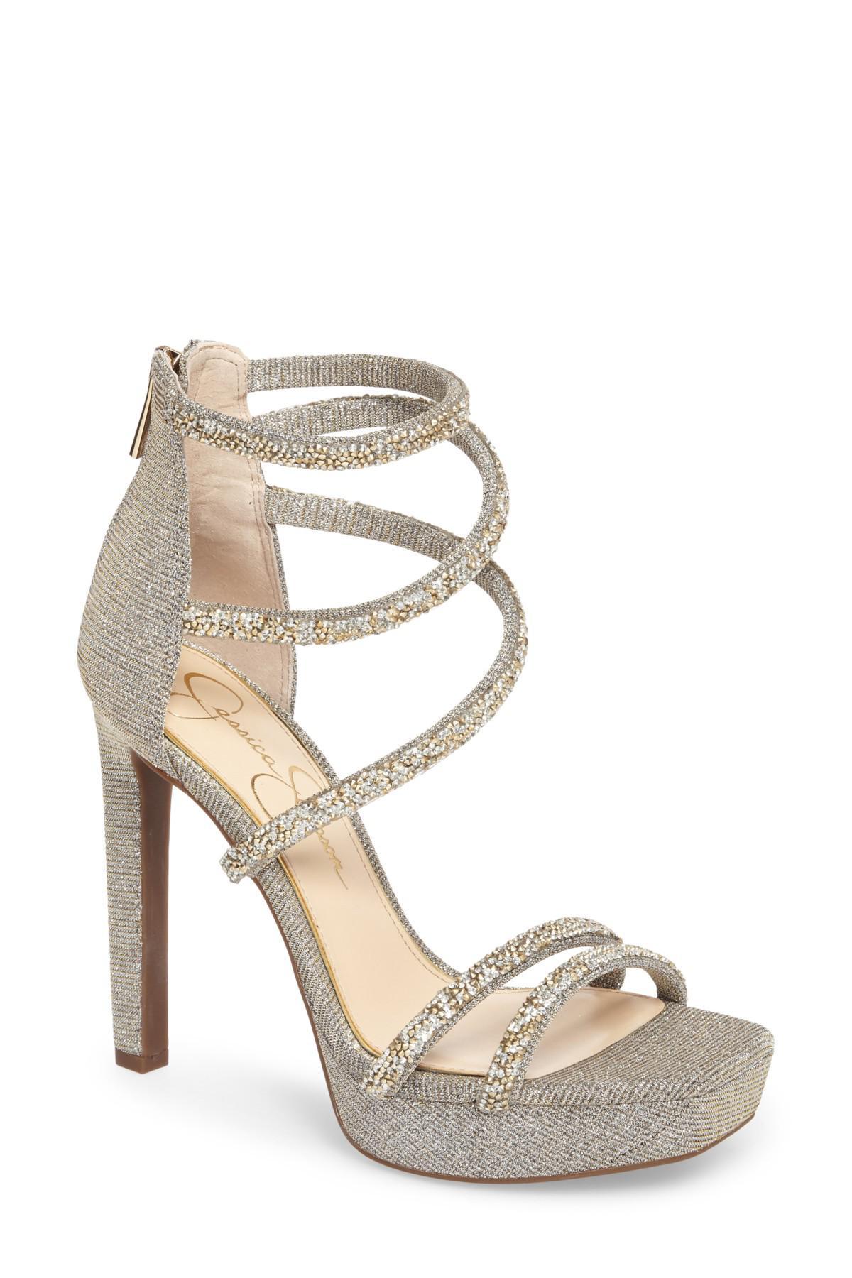 4ad9adb84175 Lyst - Jessica Simpson Jessica Beyonah Strappy Platform Sandal in ...