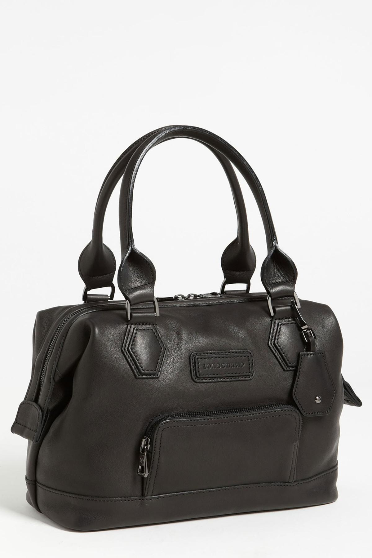 a1e754f5b5ef Lyst - Longchamp Legende Sport Leather Handbag in Black