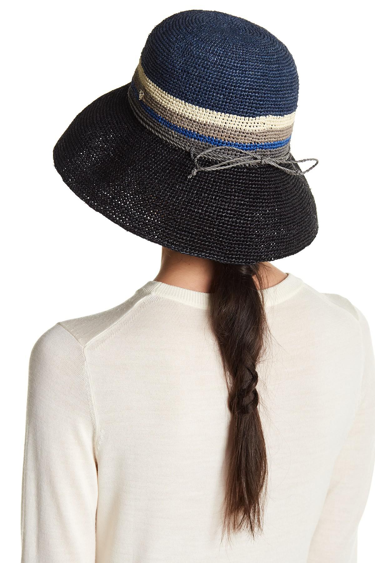 202e8be5f57c4 Helen Kaminski Provence Colorblock Woven Floppy Hat - Lyst