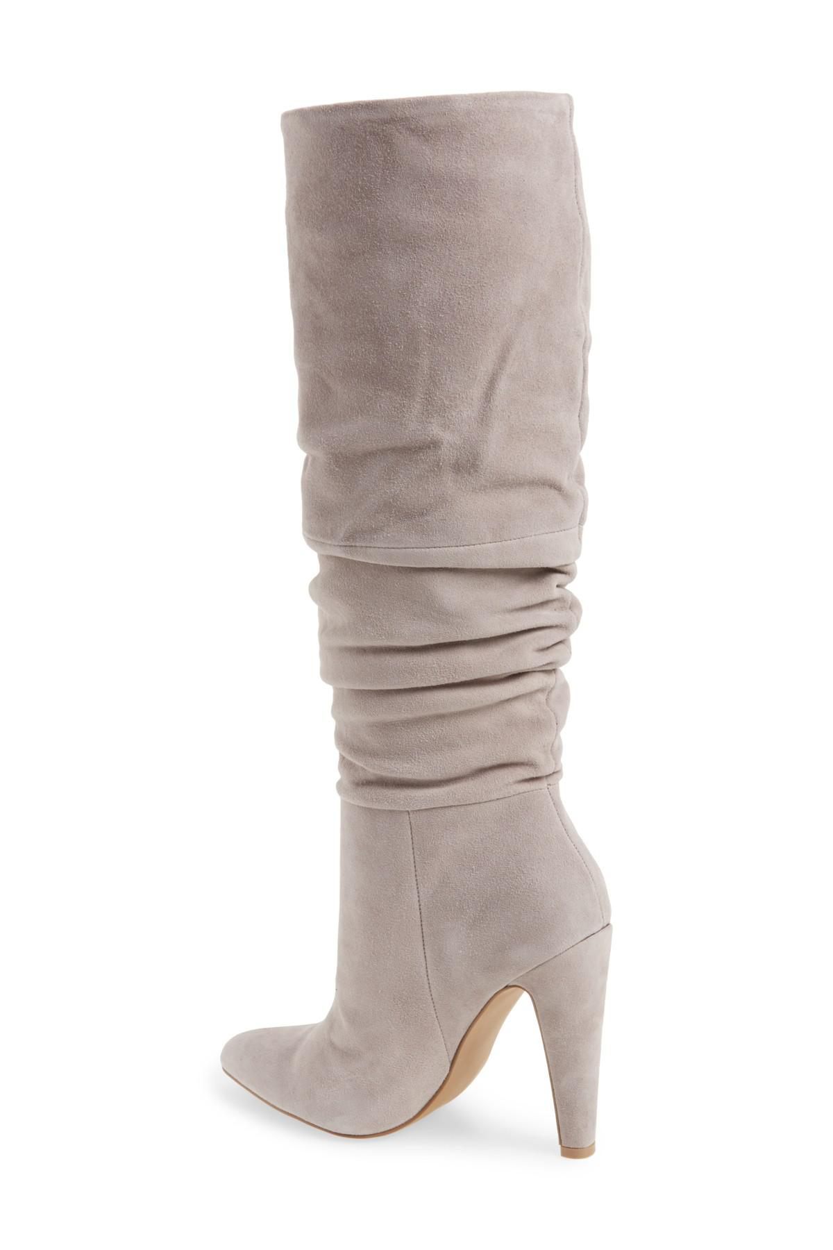 4c73bf5851f Lyst - Steve Madden Carrie Slouchy Boot in Gray