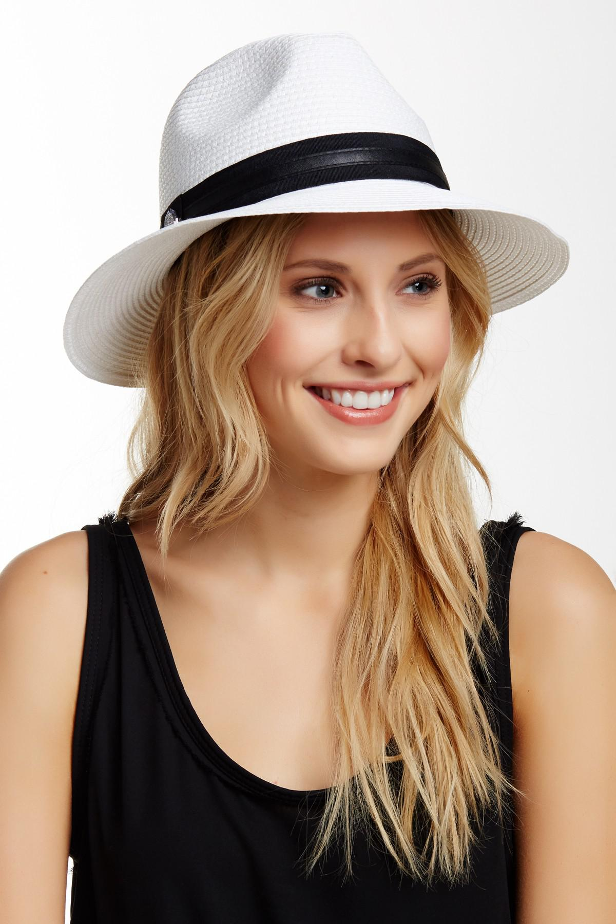 Lyst - Vince Camuto Panama Hat in White beacad87c62d