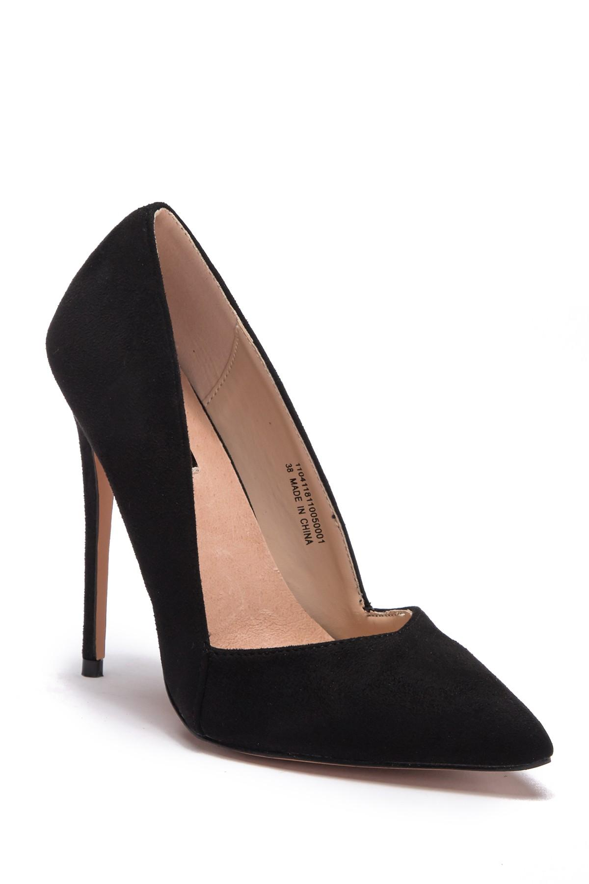 3a2bdc06848a Lyst - Lost Ink Alexa Low Cut Pump - Wide Width in Black