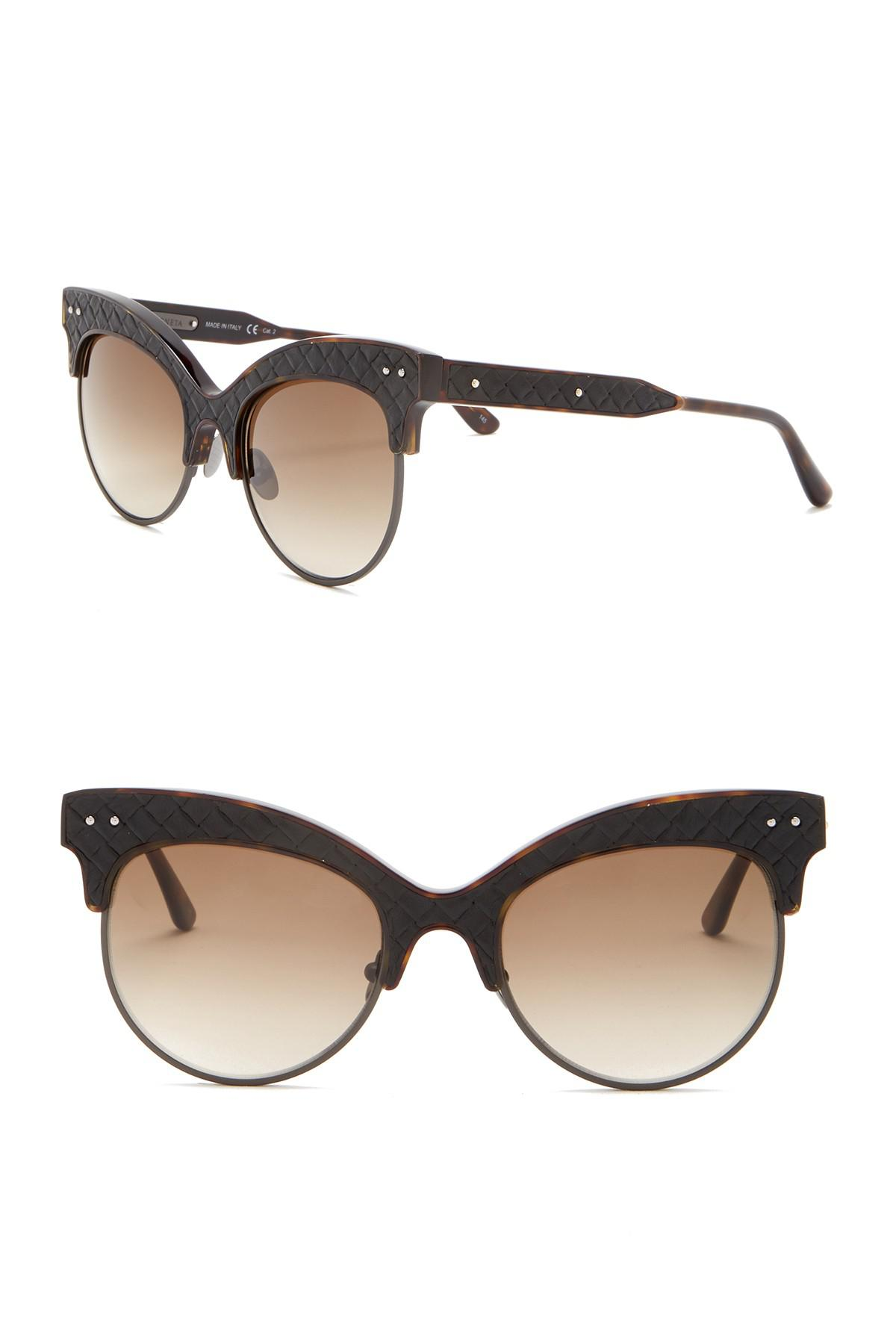 ae103d5257 Lyst - Bottega Veneta 52mm Cat Eye Sunglasses in Brown - Save ...