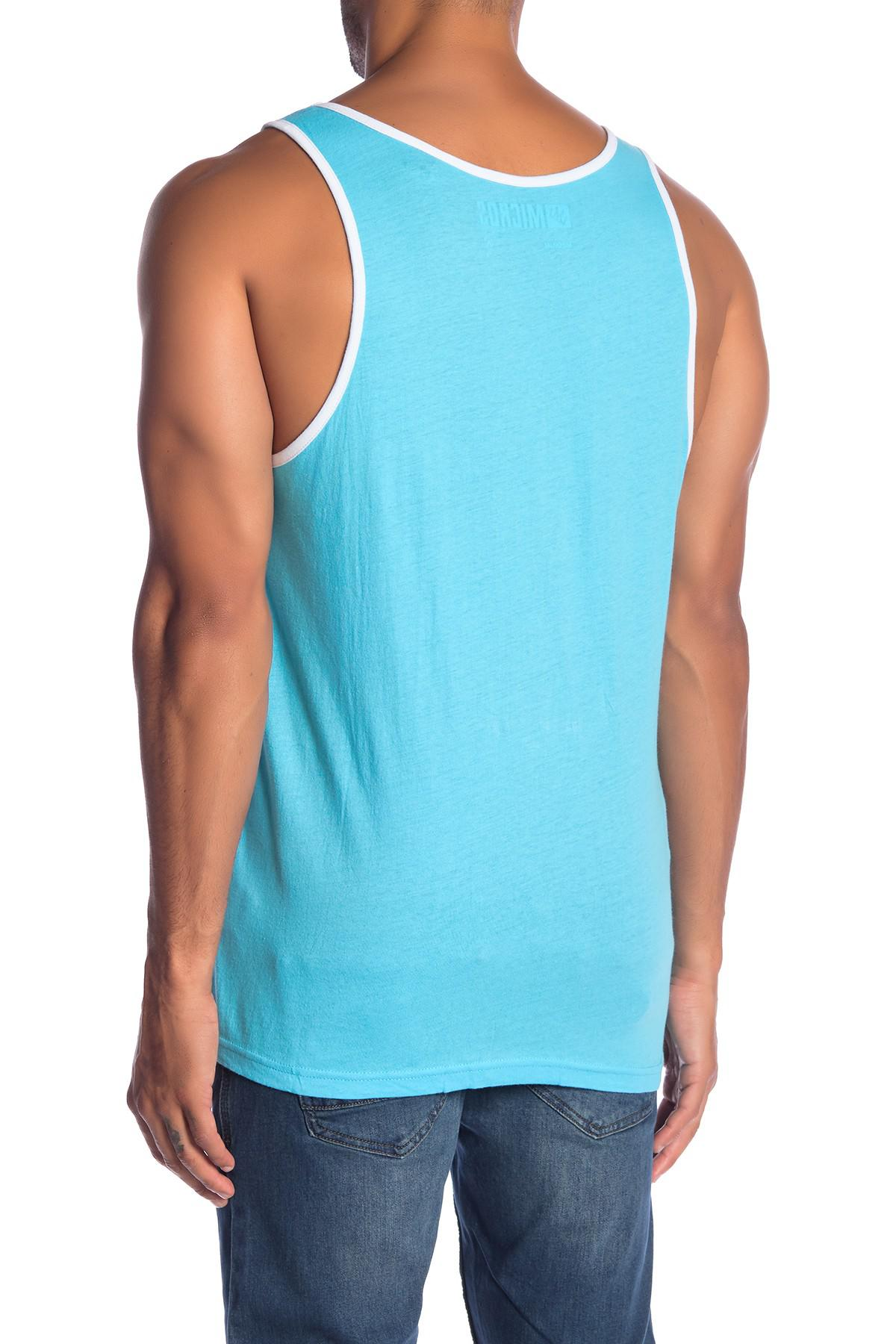 0e19aa5f0de33 Lyst - Micros Lucio Sunday Surf Tank Top in Blue for Men