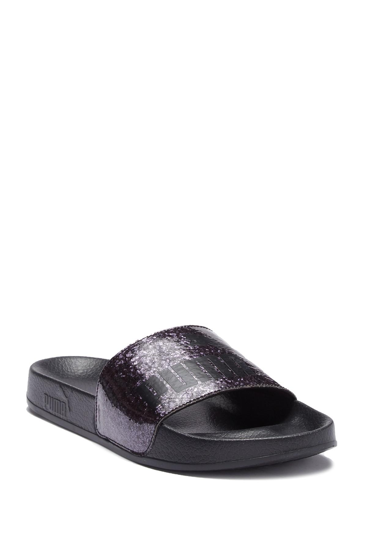 59dc6842d03e93 Lyst - PUMA Leadcat Glitz Slide Sandal in Black