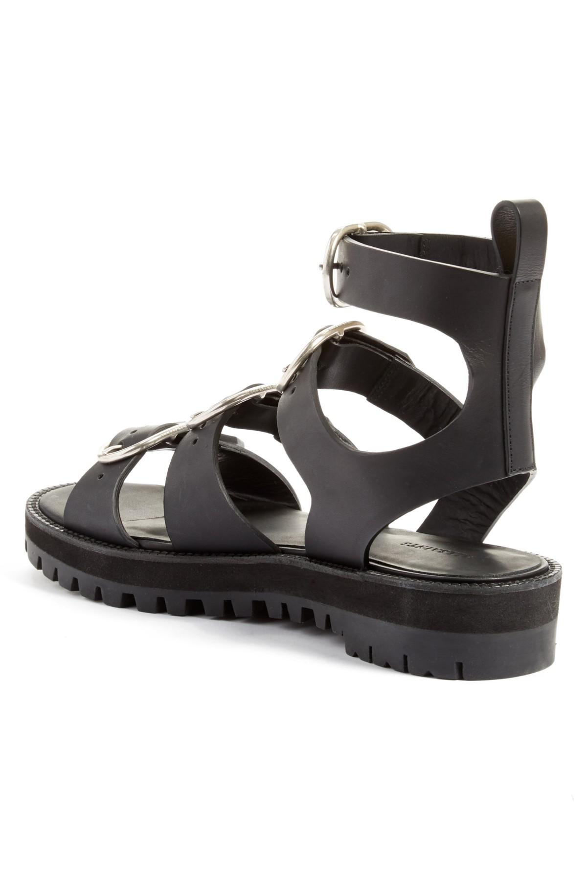 8d7171c0a20 Lyst - AllSaints Raquel Platform Sandal in Black