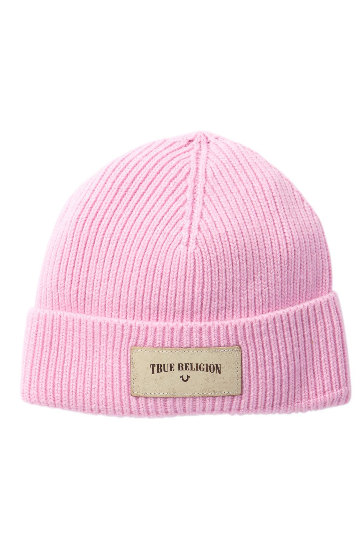 8e85310180b39 Lyst - True Religion Rib Knit Beanie in Pink for Men